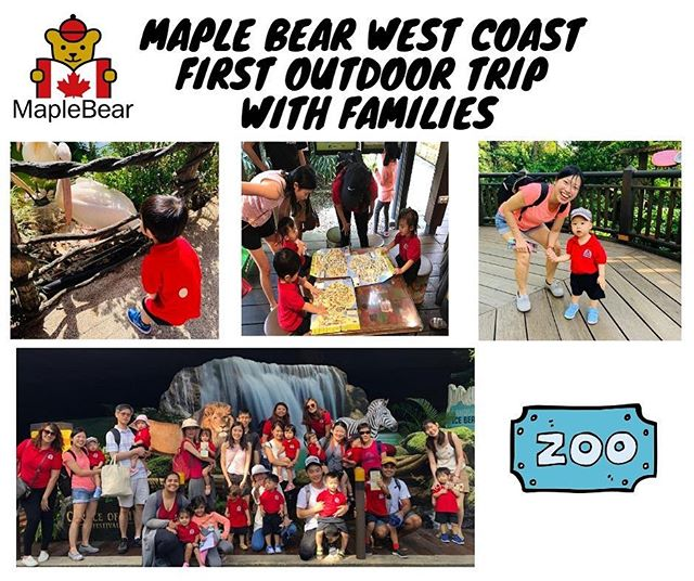 Yesterday our families joined us for our first experiential learning trip to the Singapore Zoo! Our children discovered wild animals and enjoyed the tram ride. #maplebearwestcoast #singaporezoologicalgardens #experientiallearningmodel