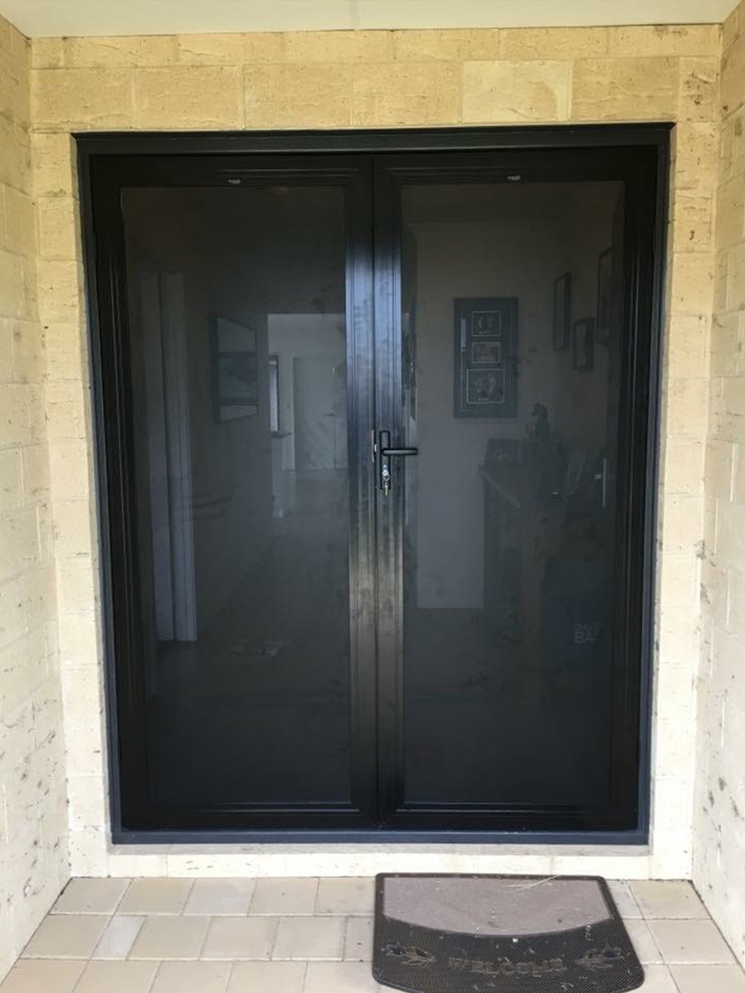 Perforated mesh double front doors.jpg