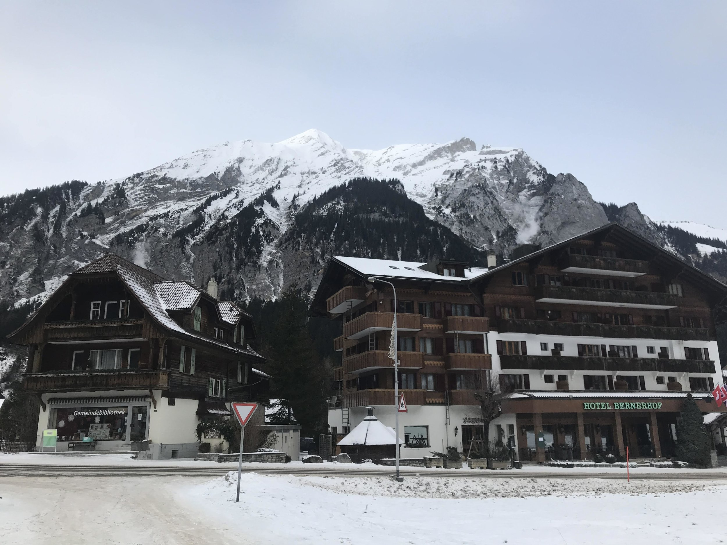 The small town of Kandersteg.