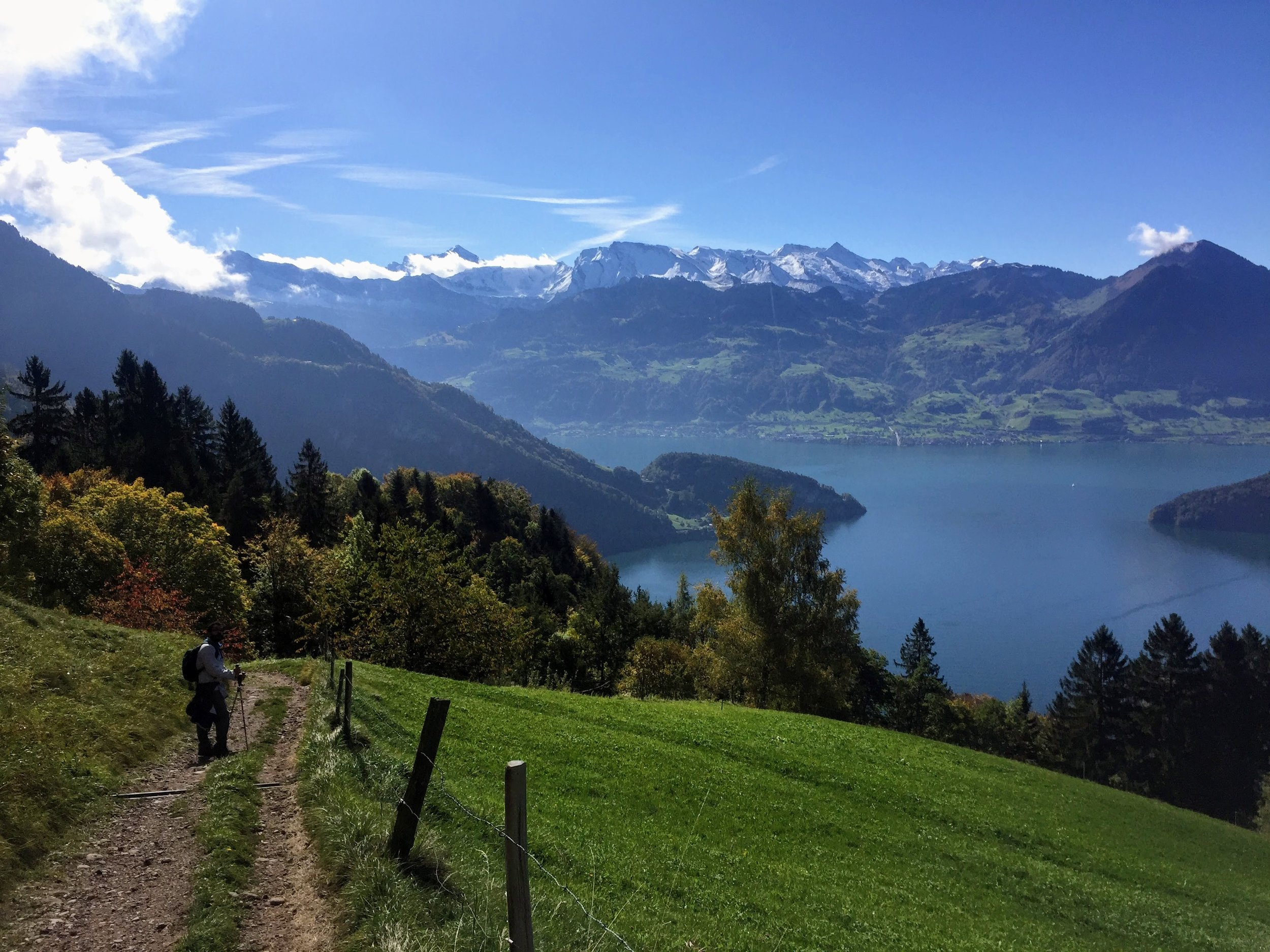View of Lake Lucern and Alps