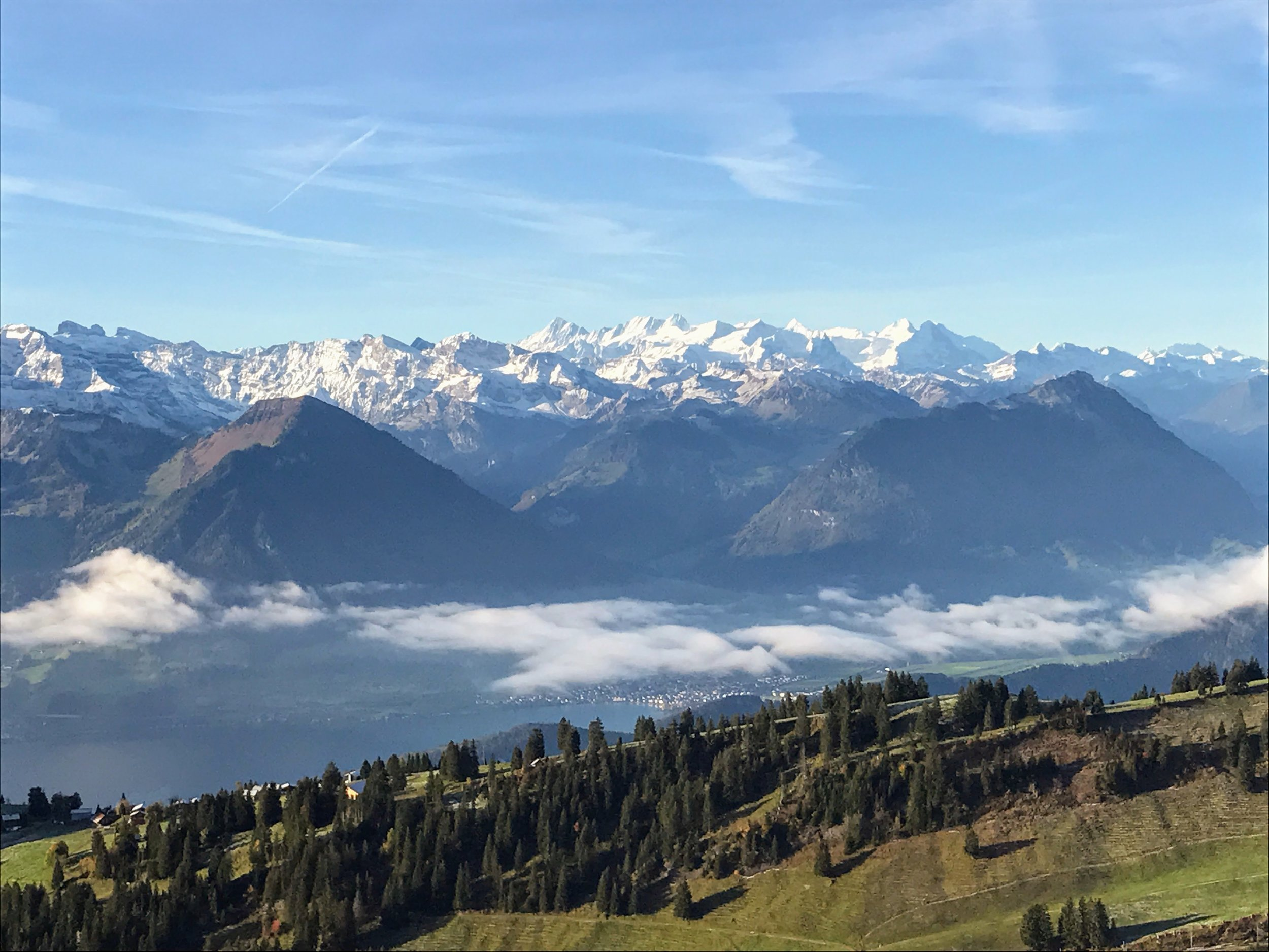 View of the Alps from Mt. Rigi summit