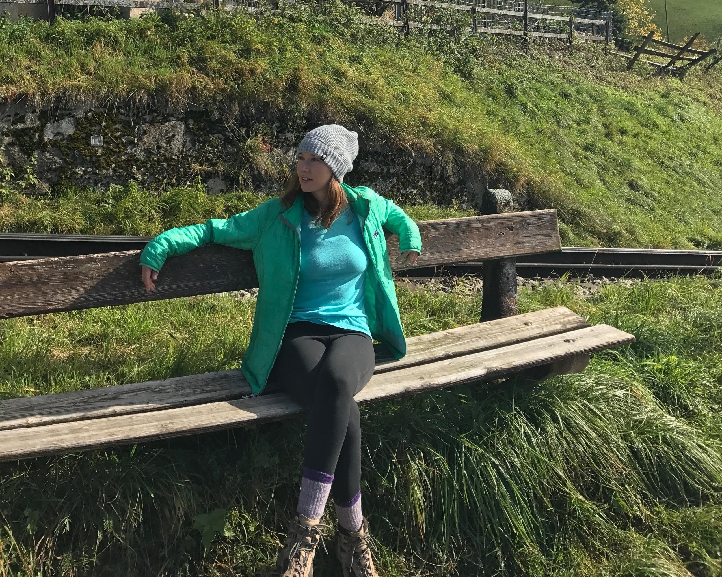 Taking a break on Mark Twain trail