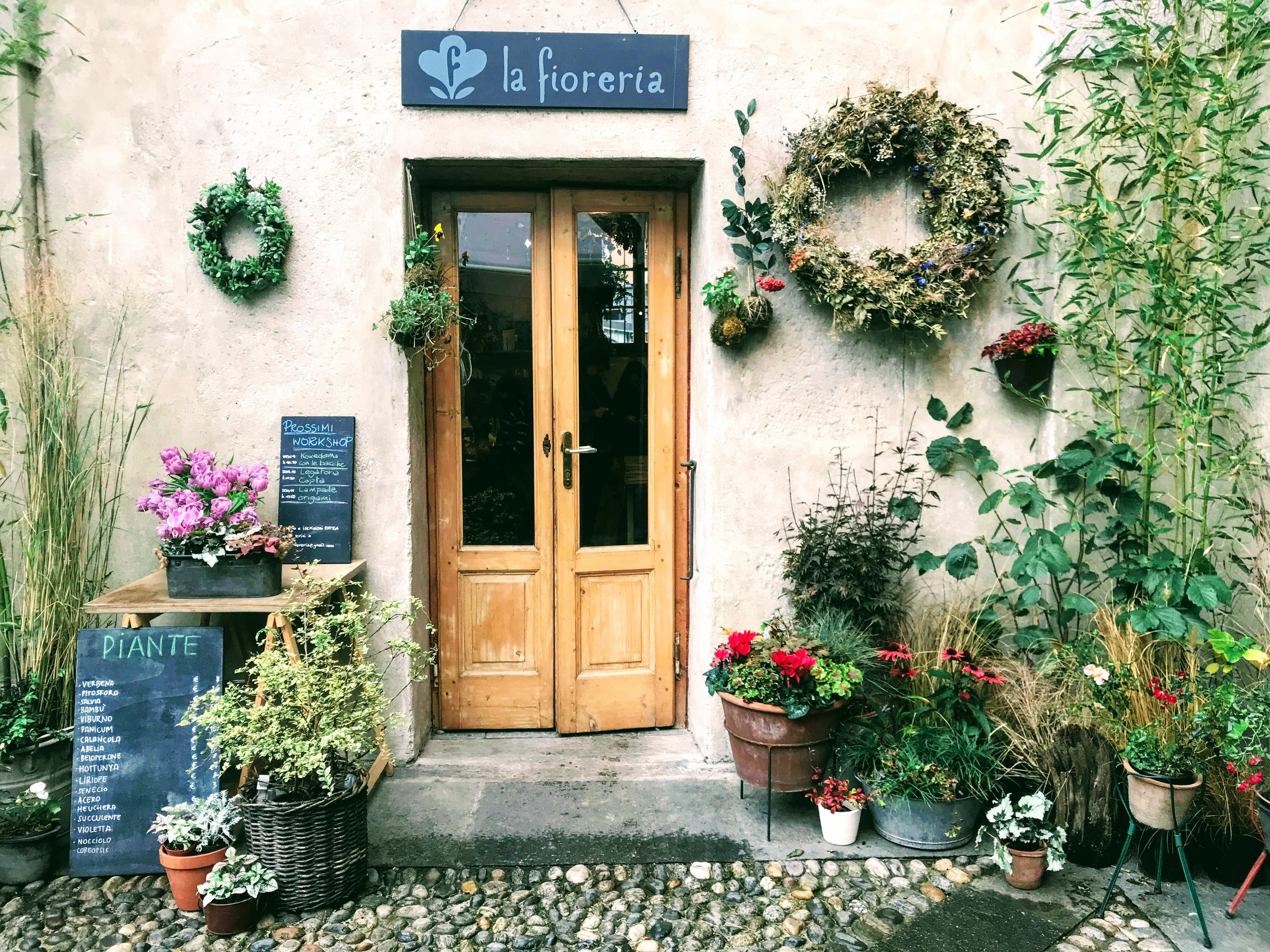 The flower shop at Cascina Cuccagna