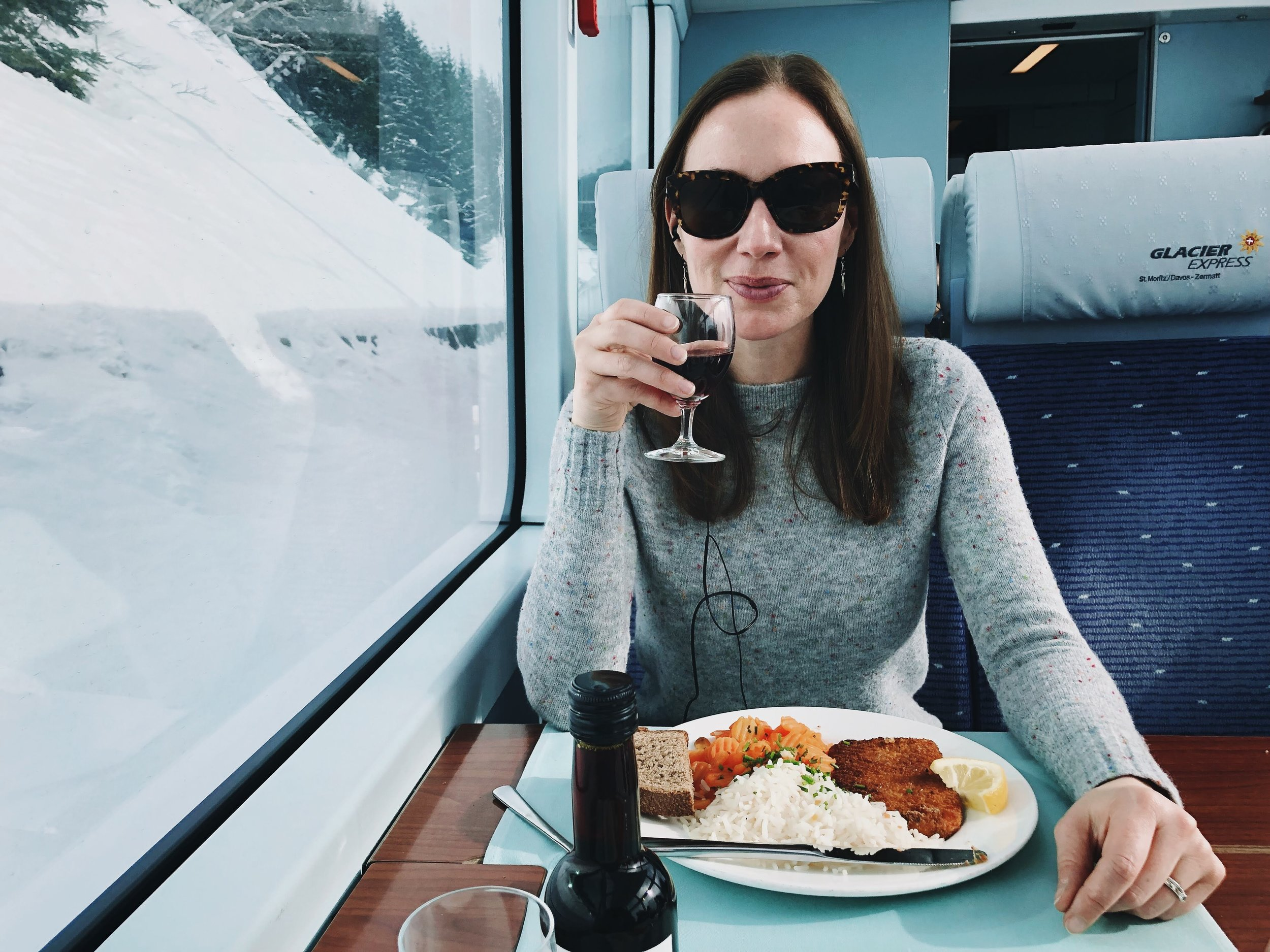 Lunch on the Glacier Express