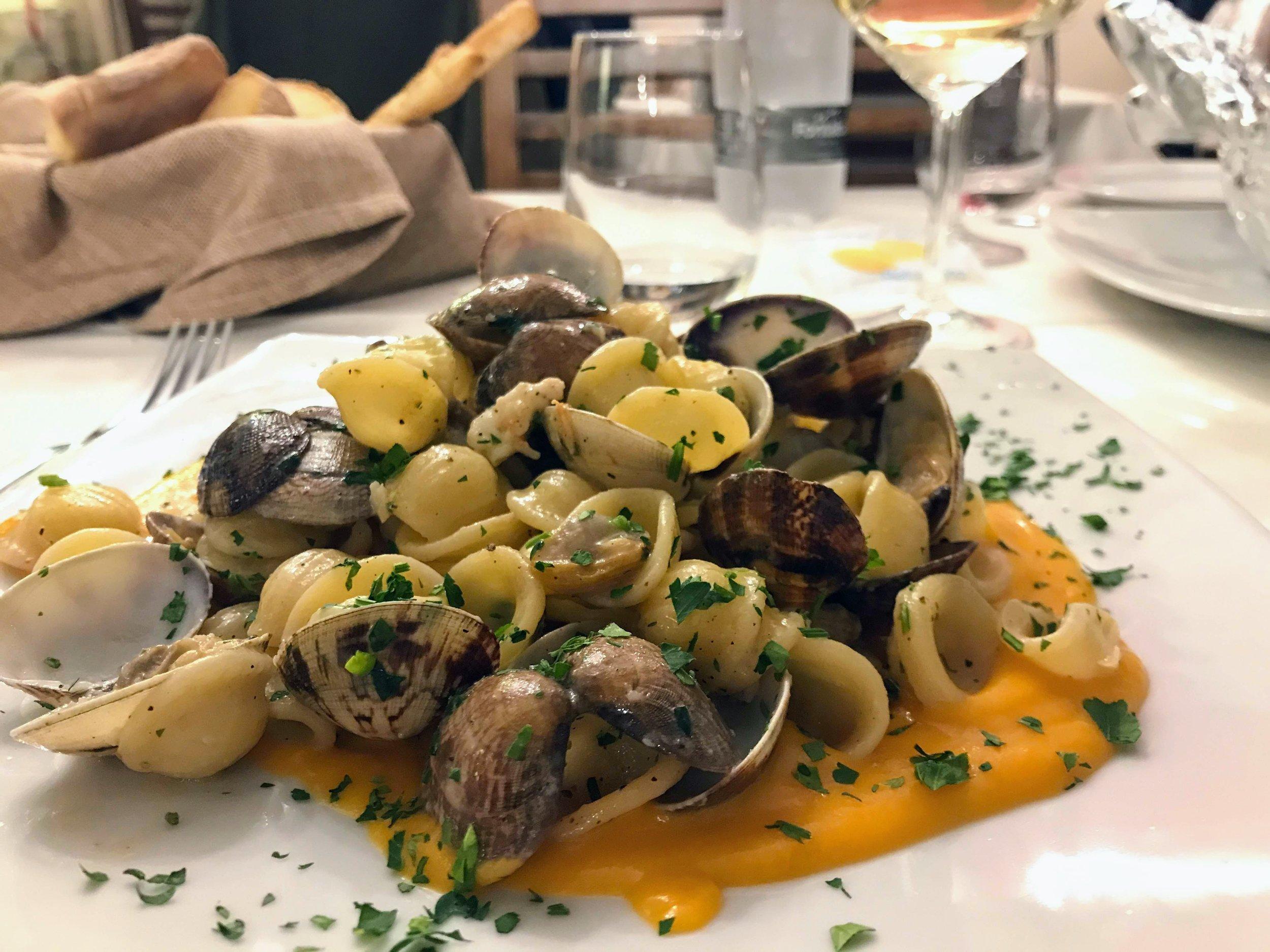 Seafood pasta from Trattoria da Antonio in Catania Sicily.JPG