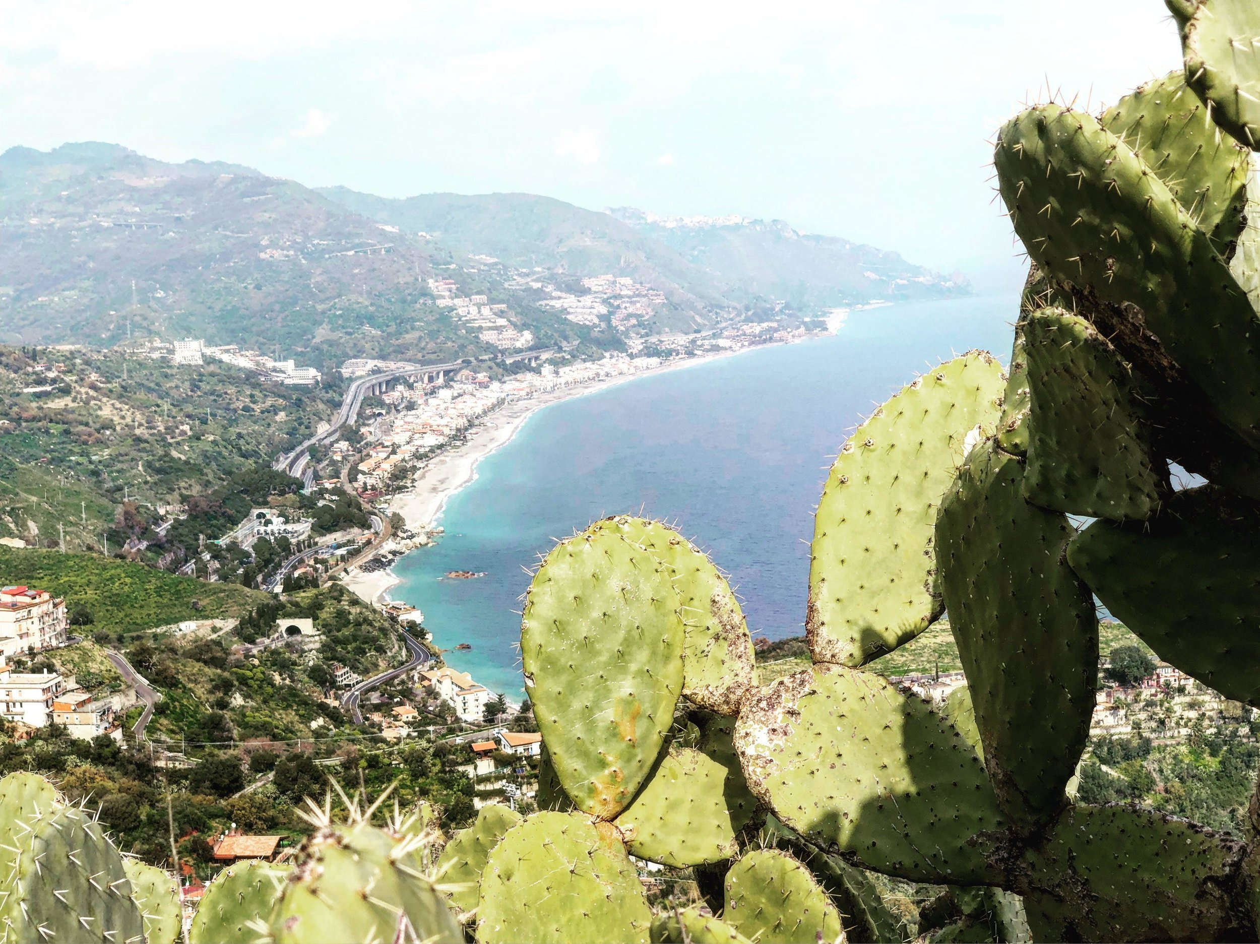 View from the hills of Taormina Sicily