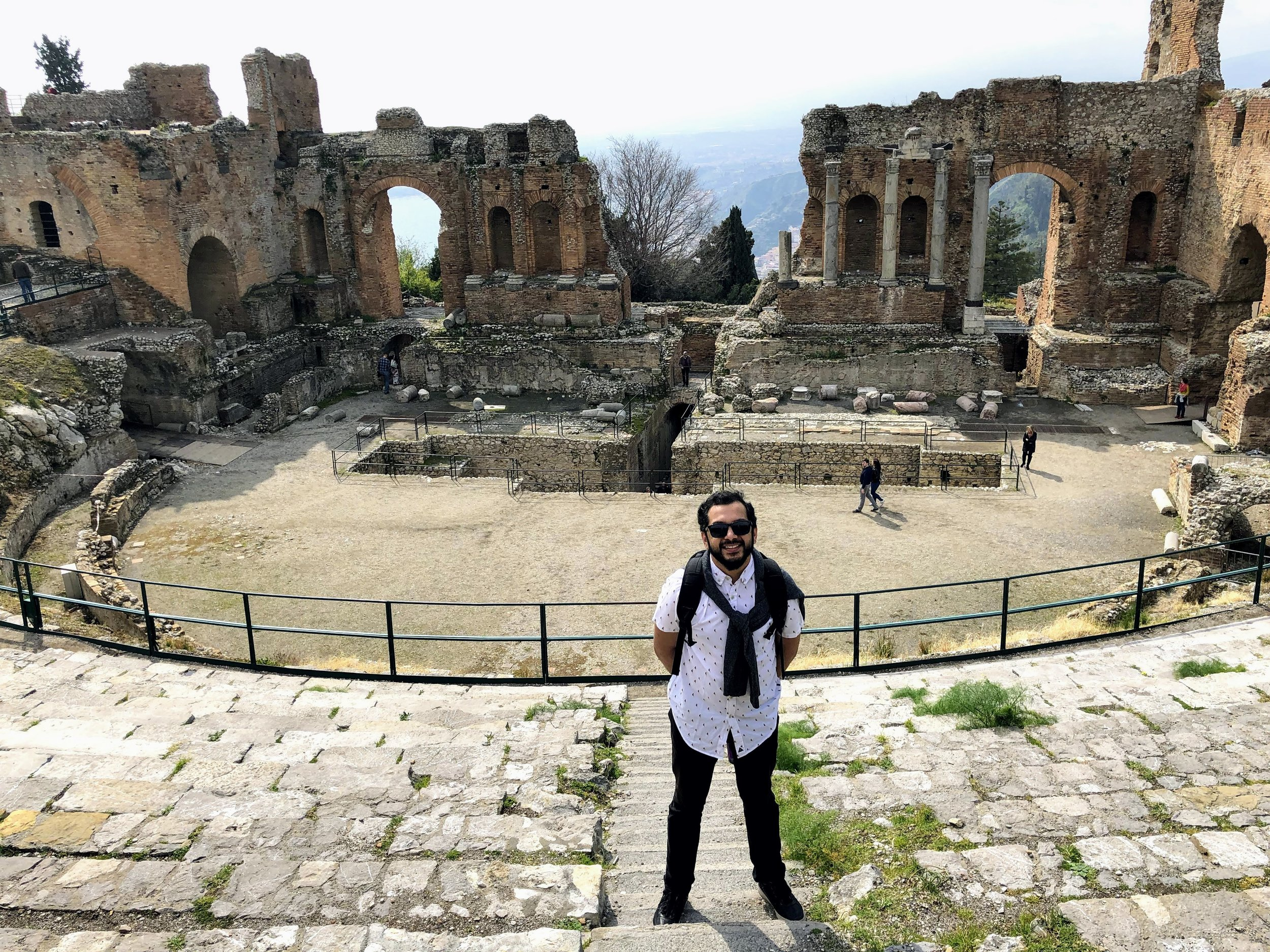 The ancient greek theater in Taormina Sicily.jpg