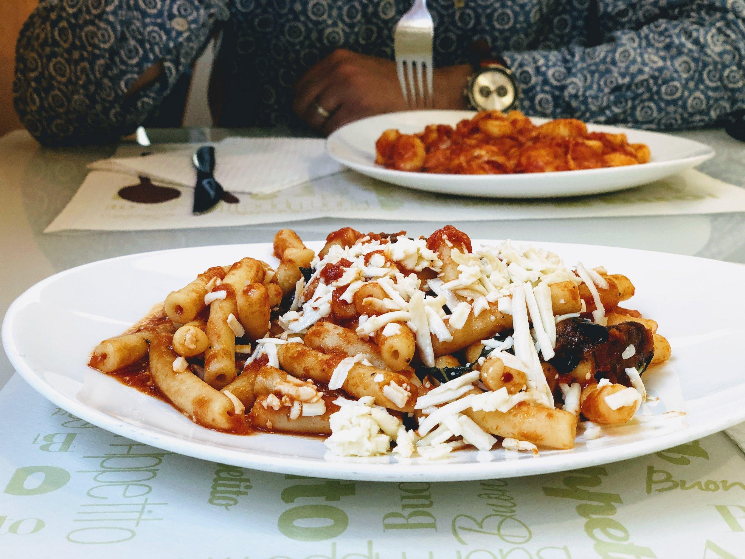 Pasta alla norma at Al Tortellino in Catania, Sicily