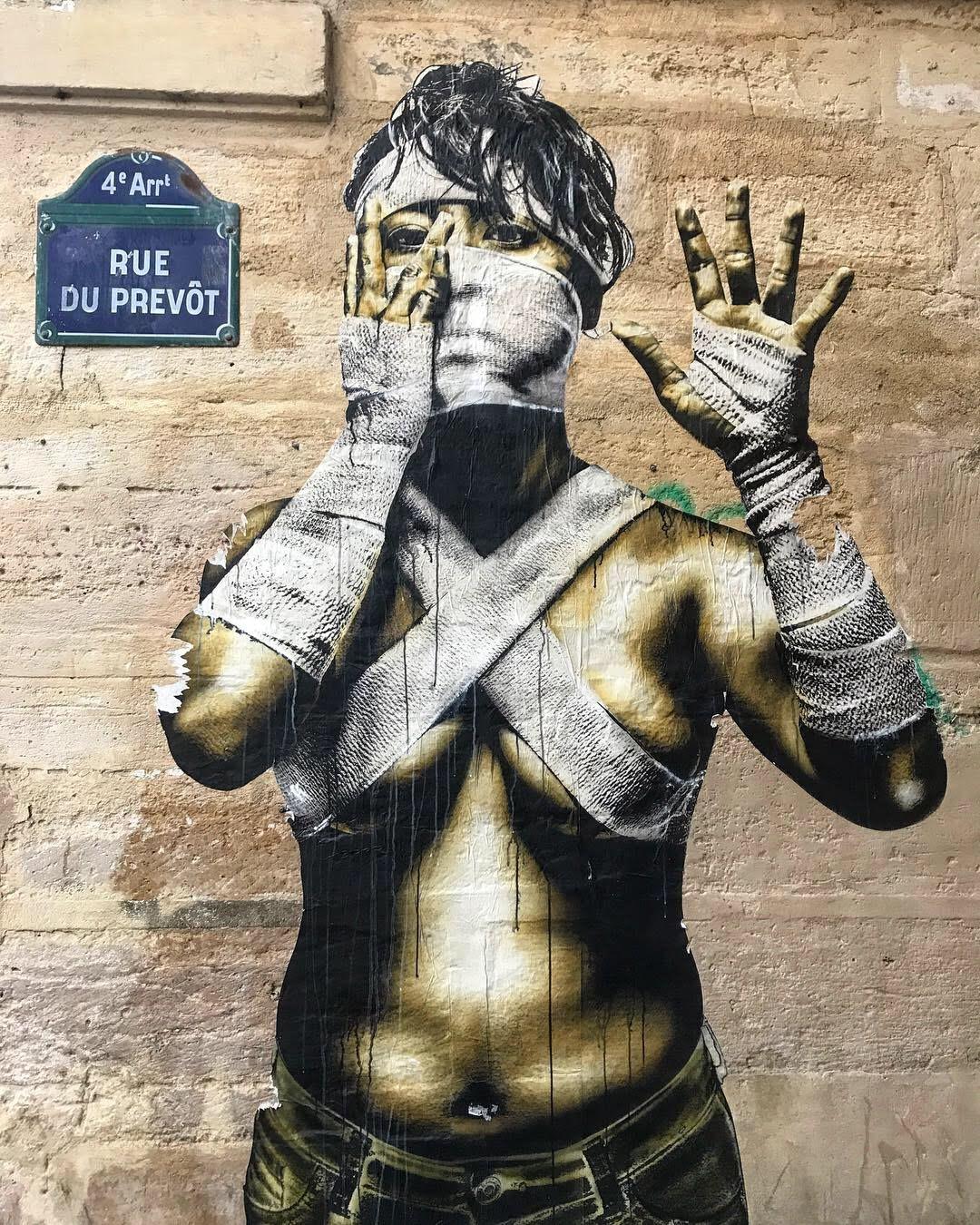Street art in Paris, France