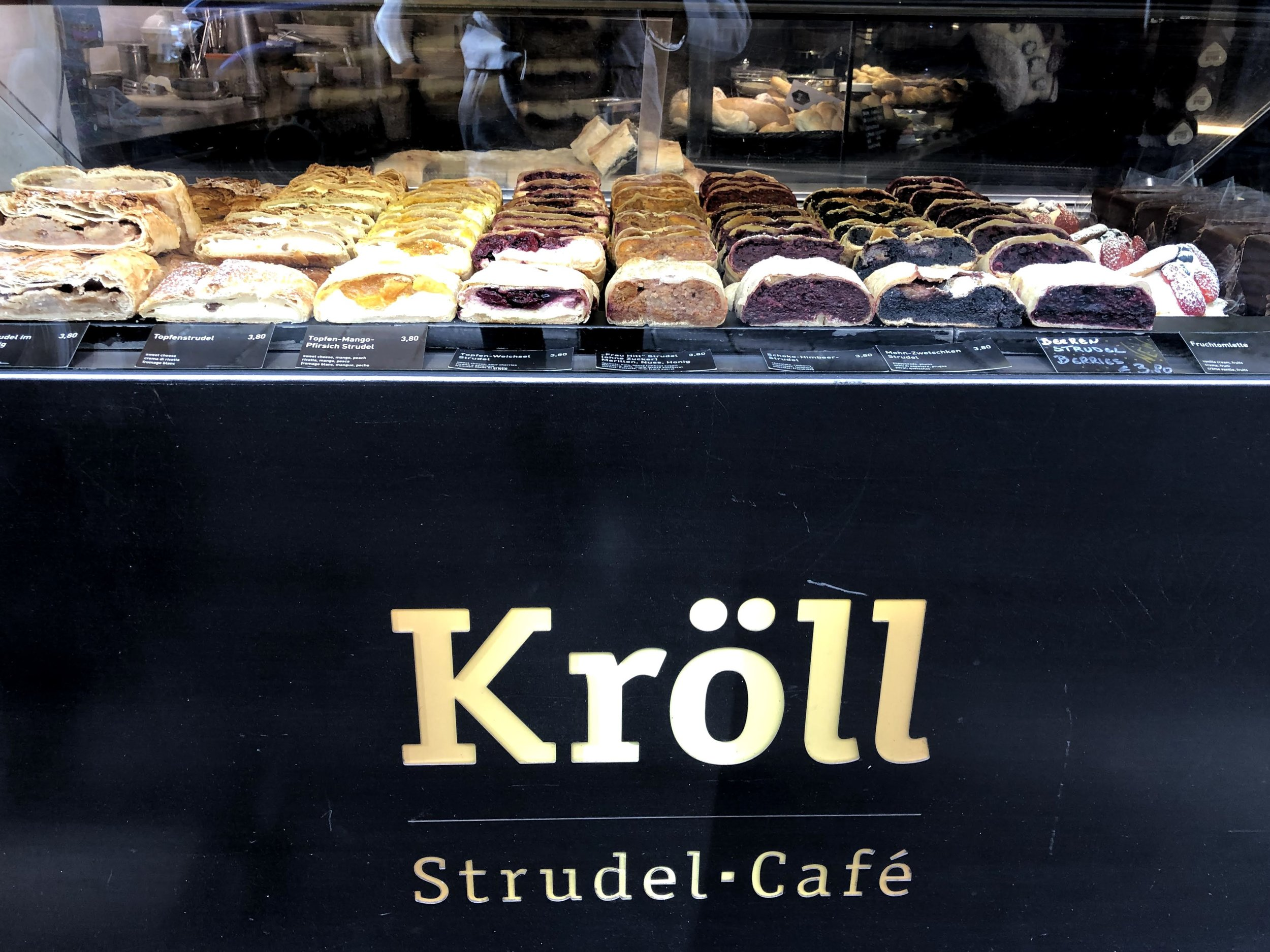 Strudel from Kroll Strudel Cafe in Innsbruck Austria