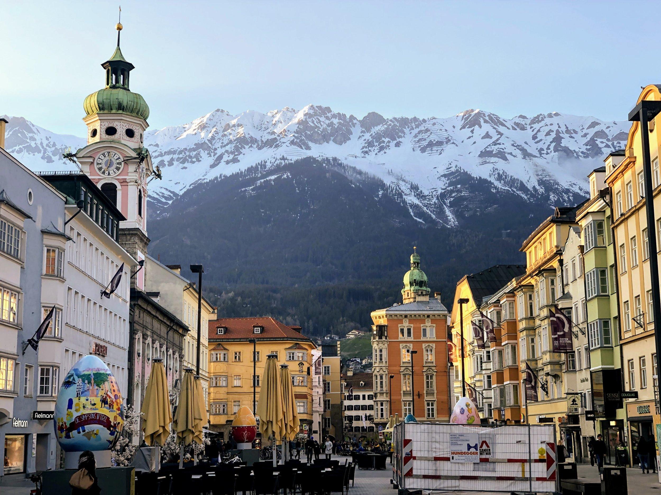 Town Square near Maria Theresien Strasse in Innsbruck Austria.jpg