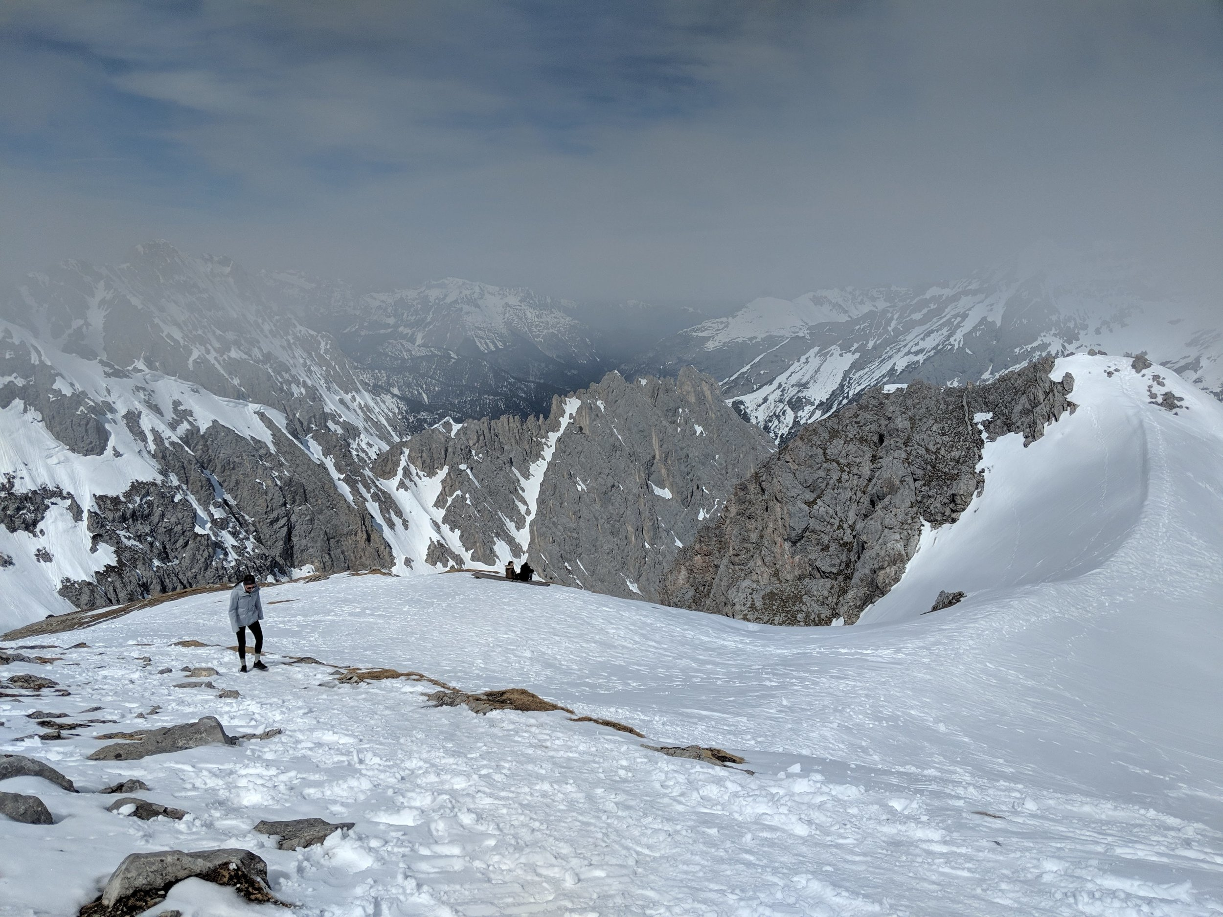 The trail to the summit at Hafelekar in the Nordkette mountains in Innsbruck.jpg