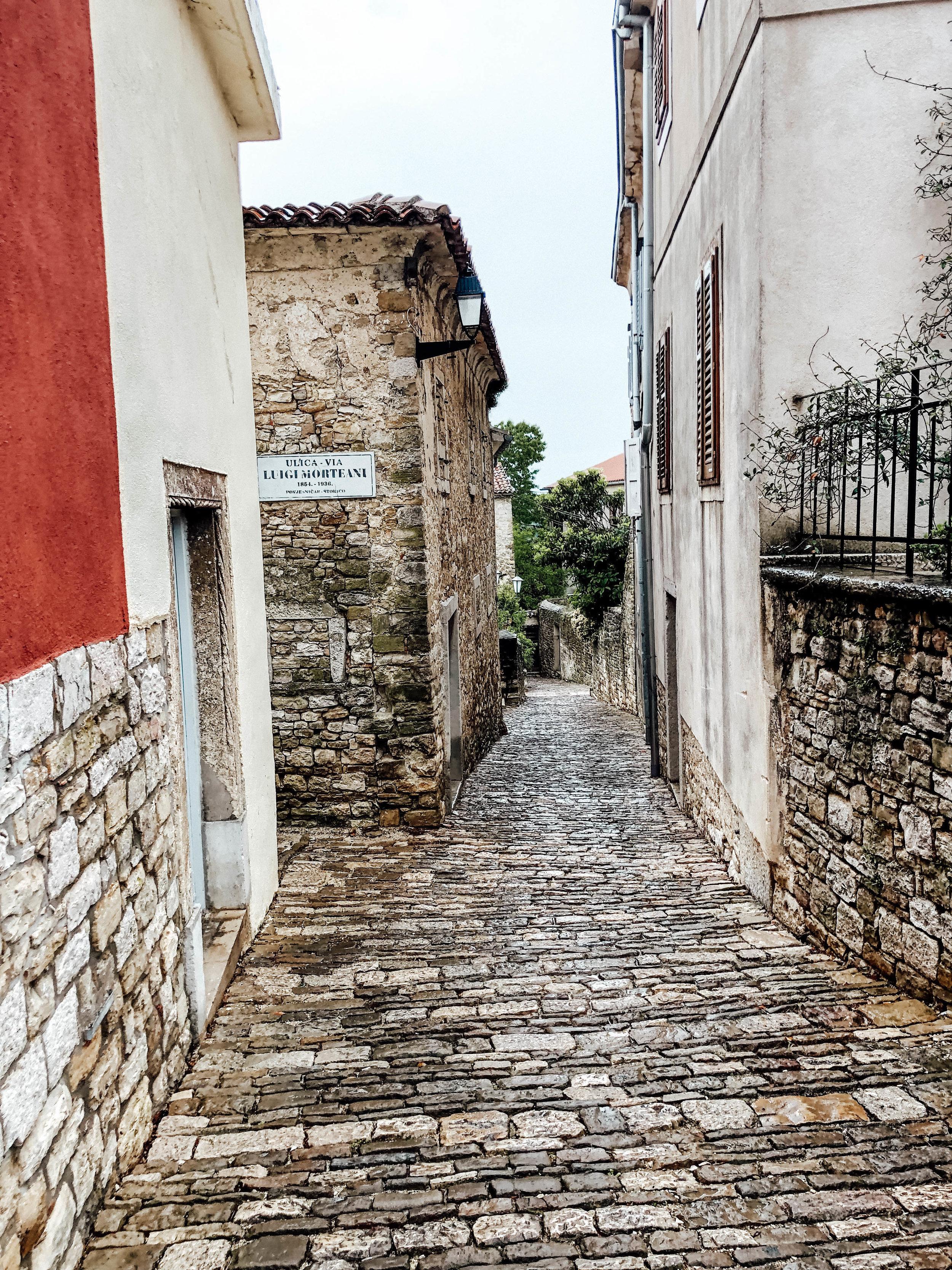 Streets of Motovum, Istria, Croatia