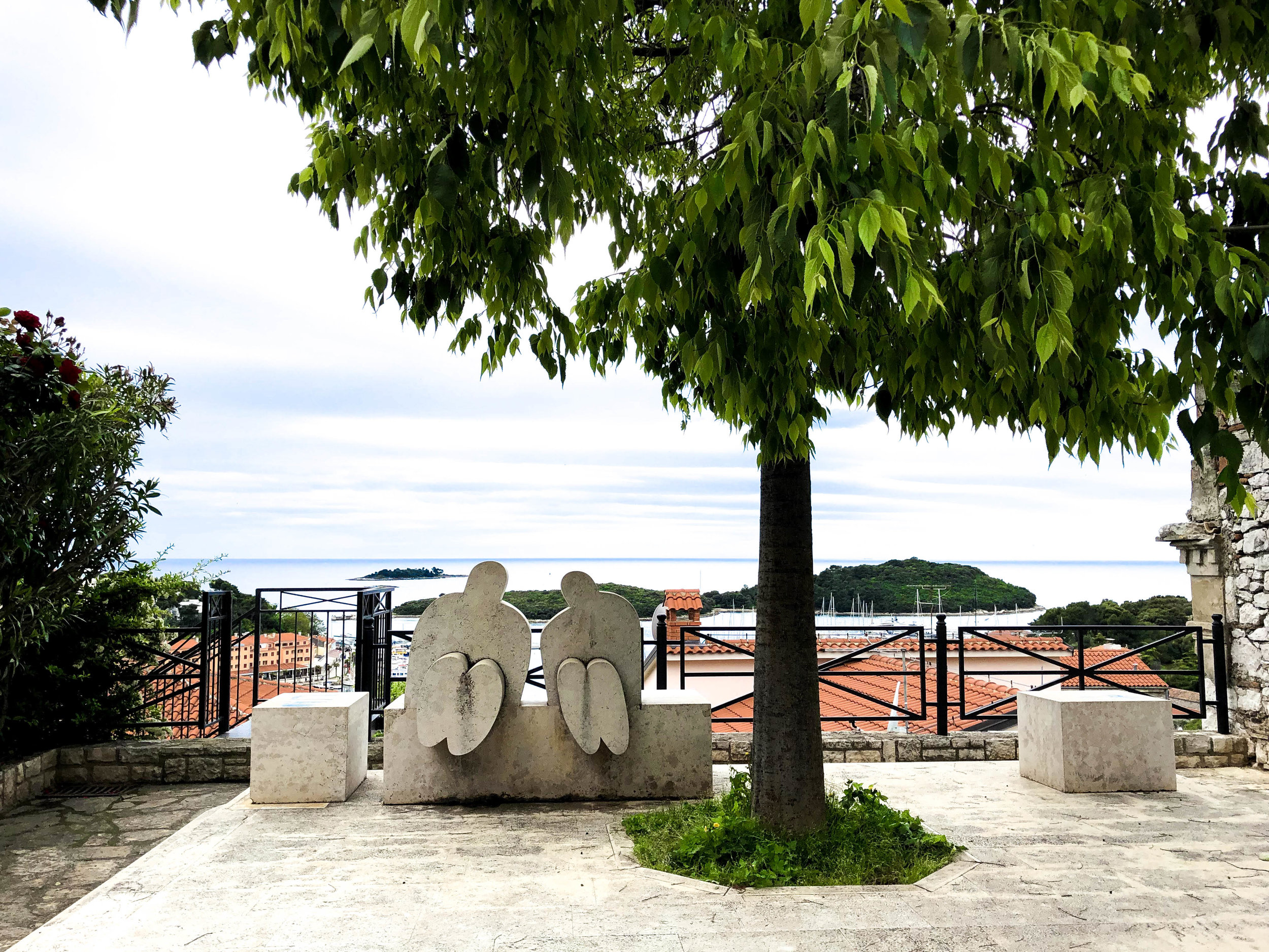Casanova sculpture in Vrsar, Istria, Croatia