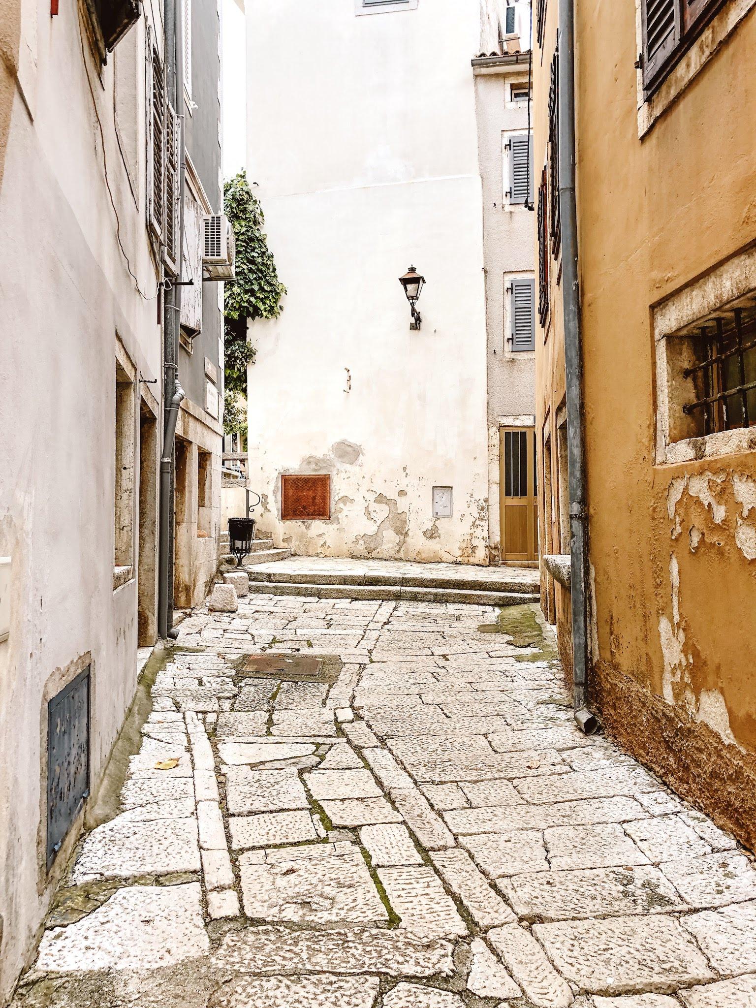 Street in Vrsar, Istria, Croatia