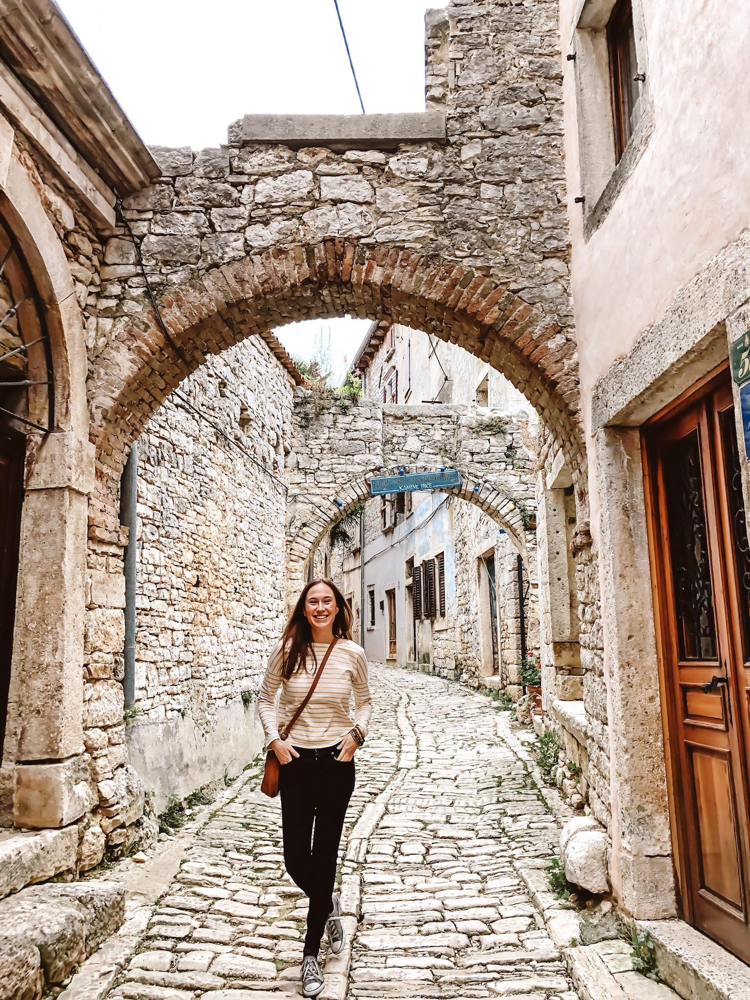 Street in Bale, Istria, Croatia