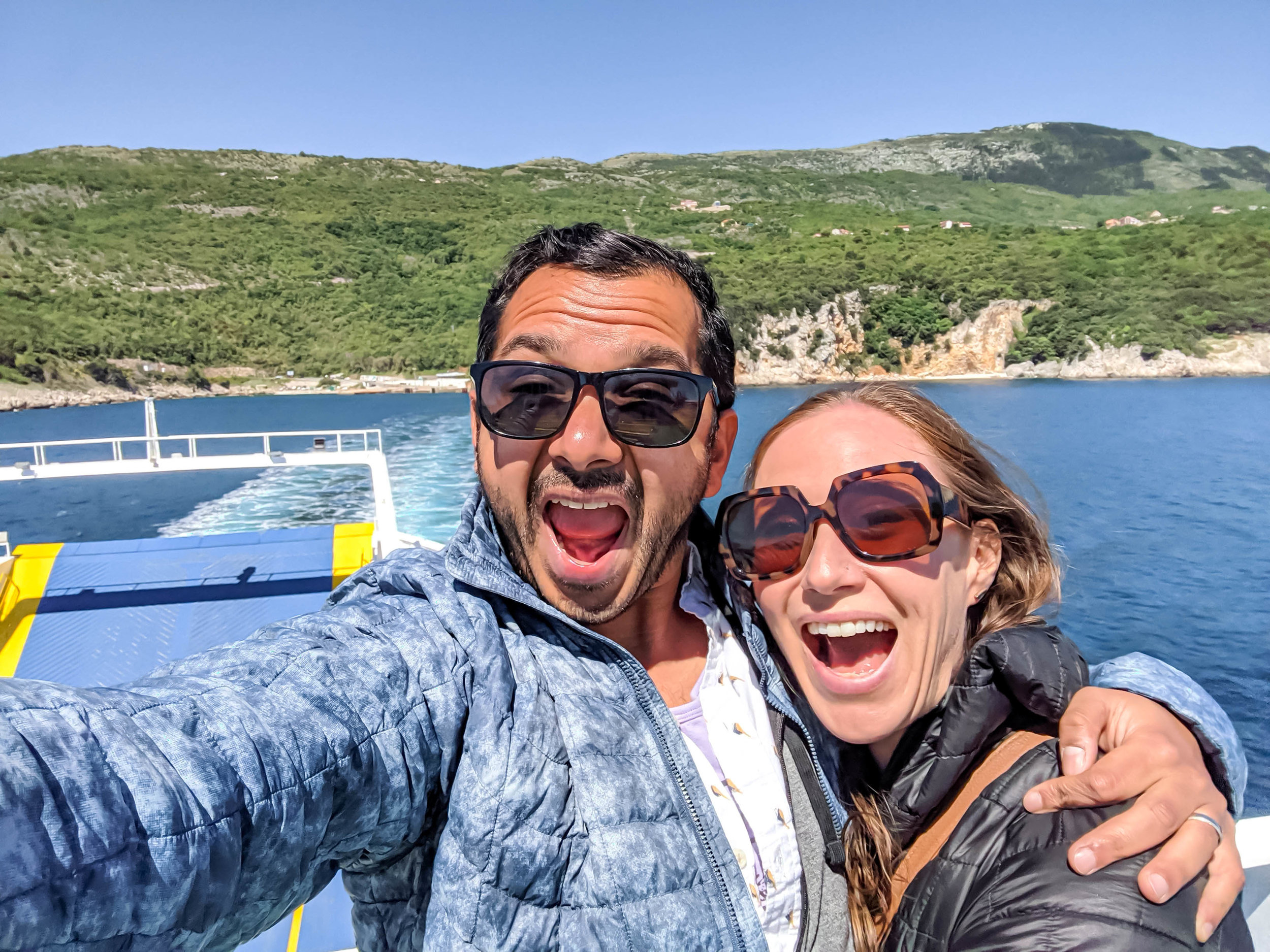 On the car ferry from Brestova to Cres, Croatia