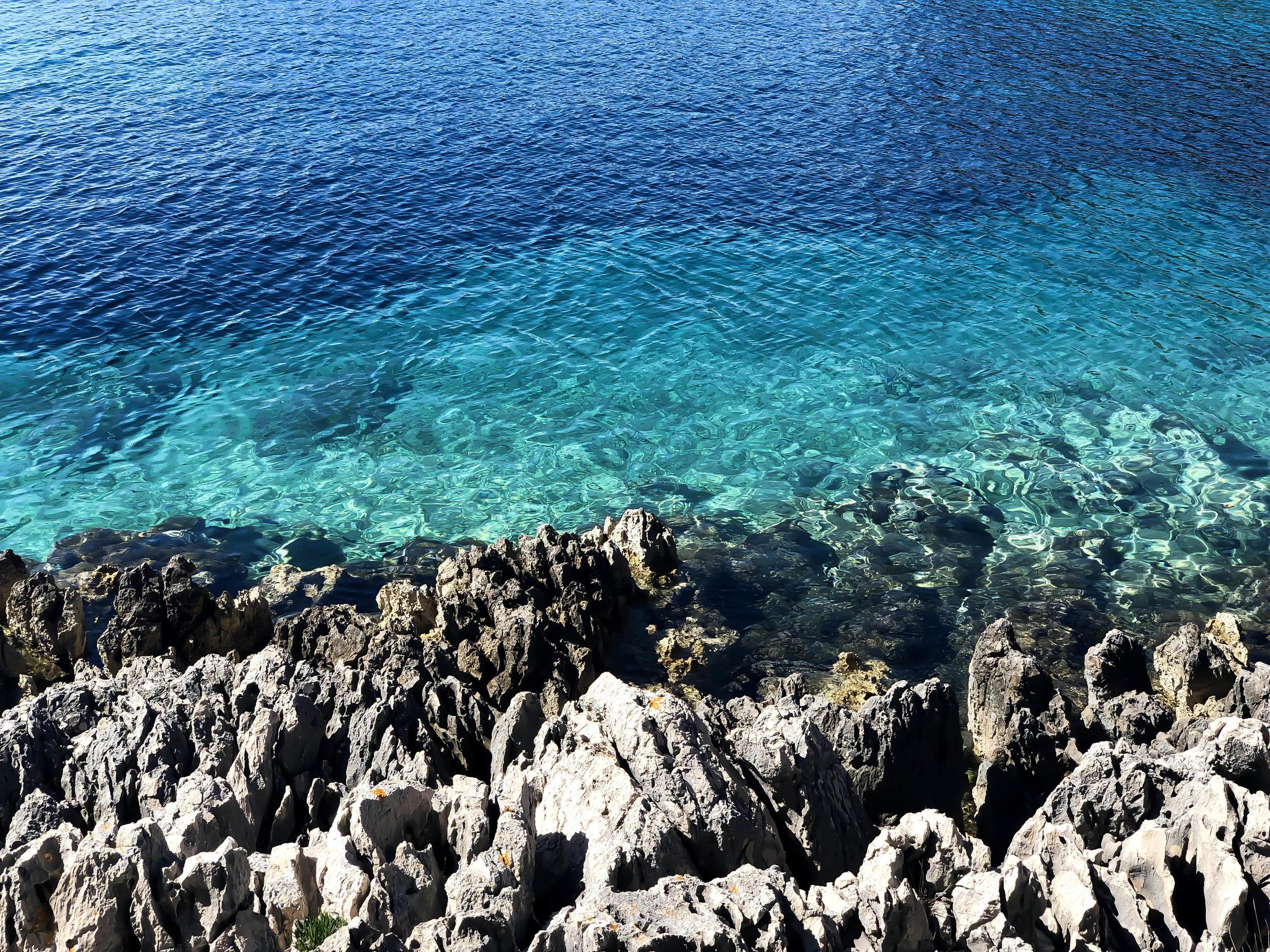 The Adriatric Sea in Lôsinj, Croatia.