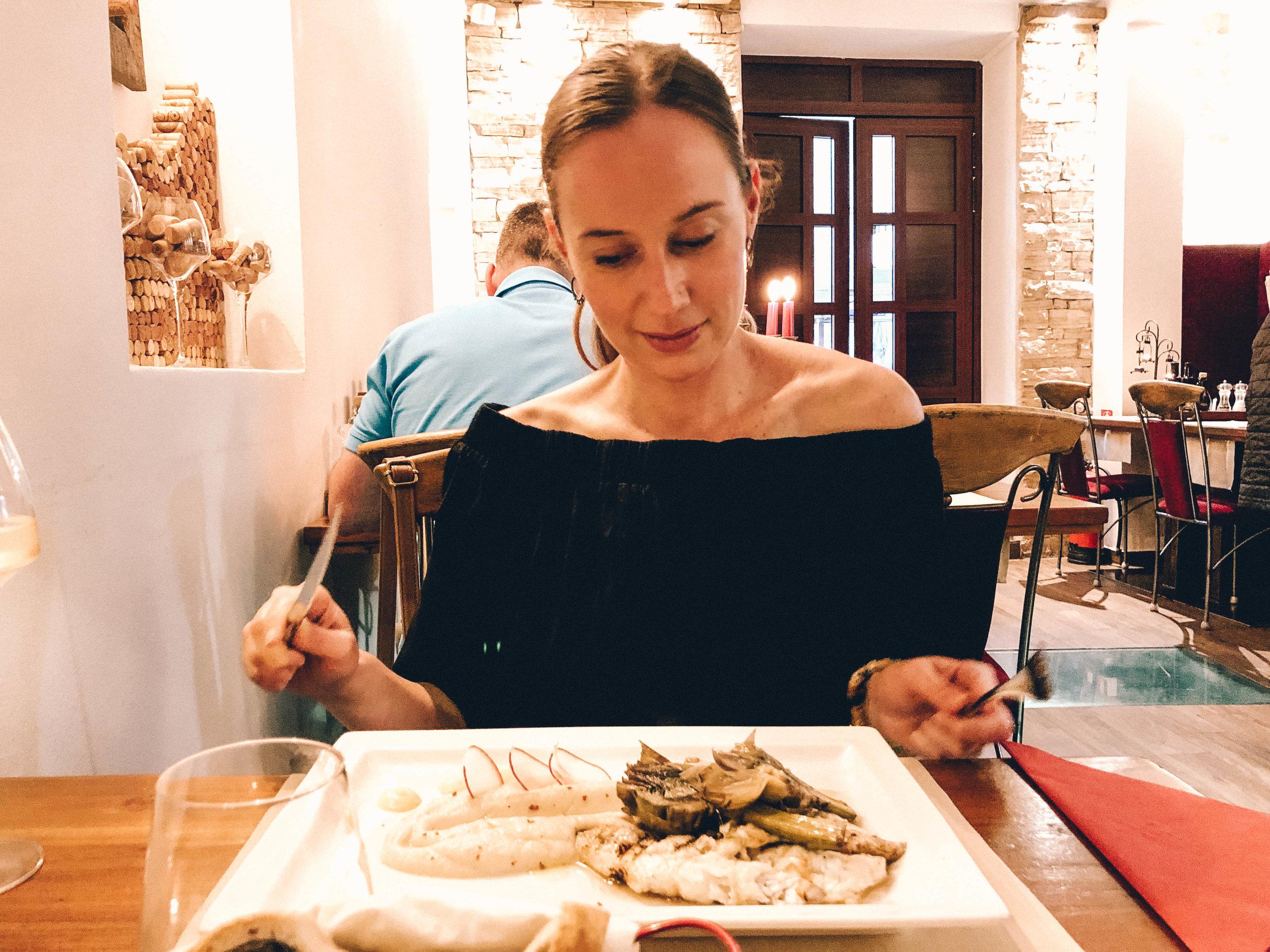 Dinner at Pet Bunara, Zadar, Croatia