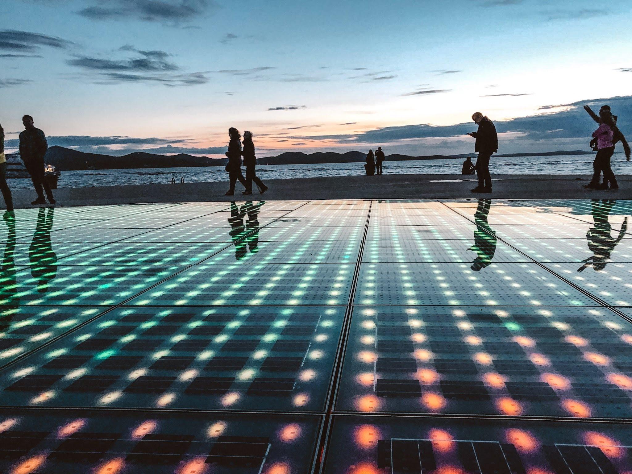 The Monument to the Sun in Zadar Croatia.jpg