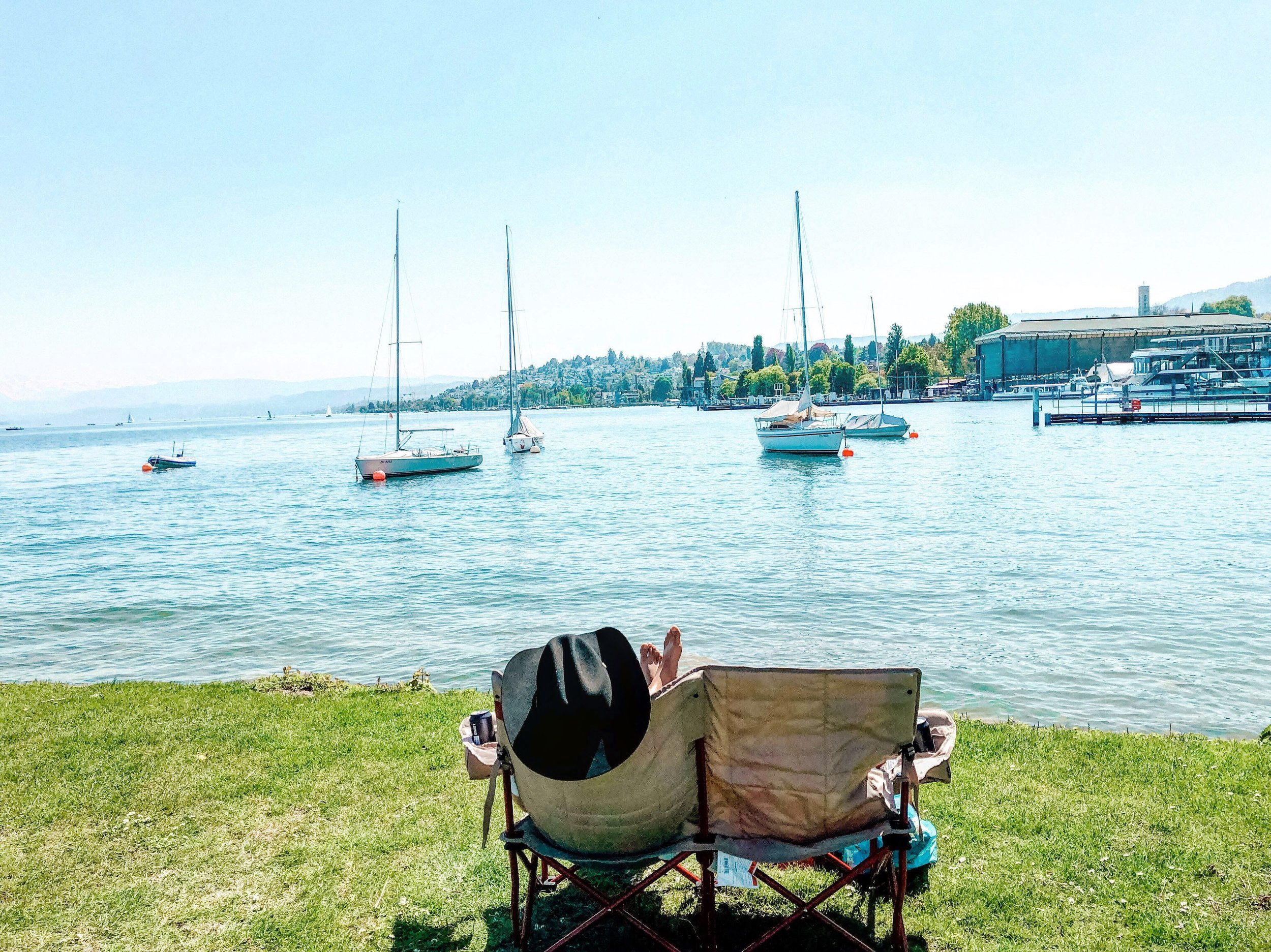 Summer on Lake Zurich, Switzerland
