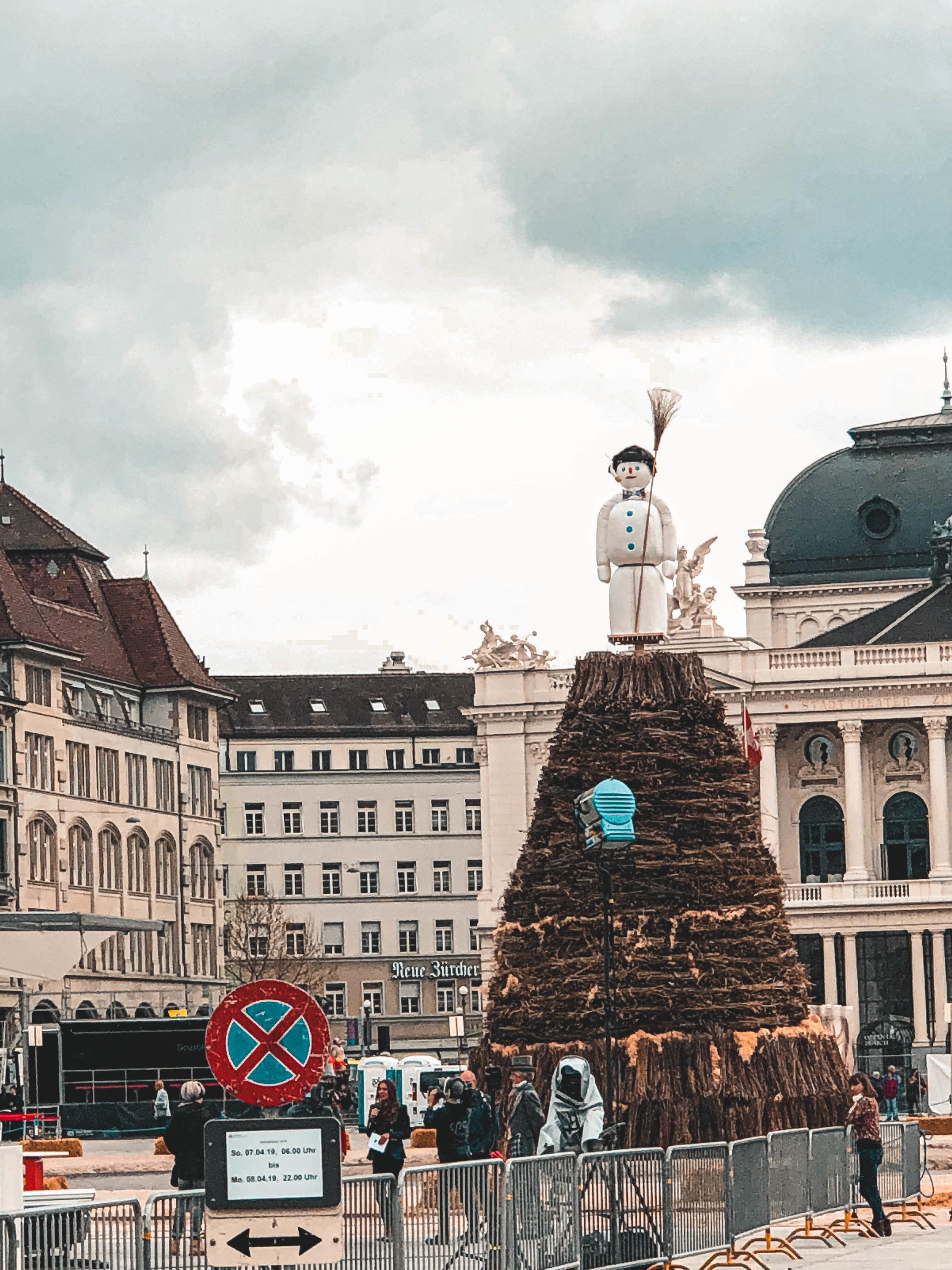 The Boogg at Sechseläuten 2019 in Zurich Switzerland