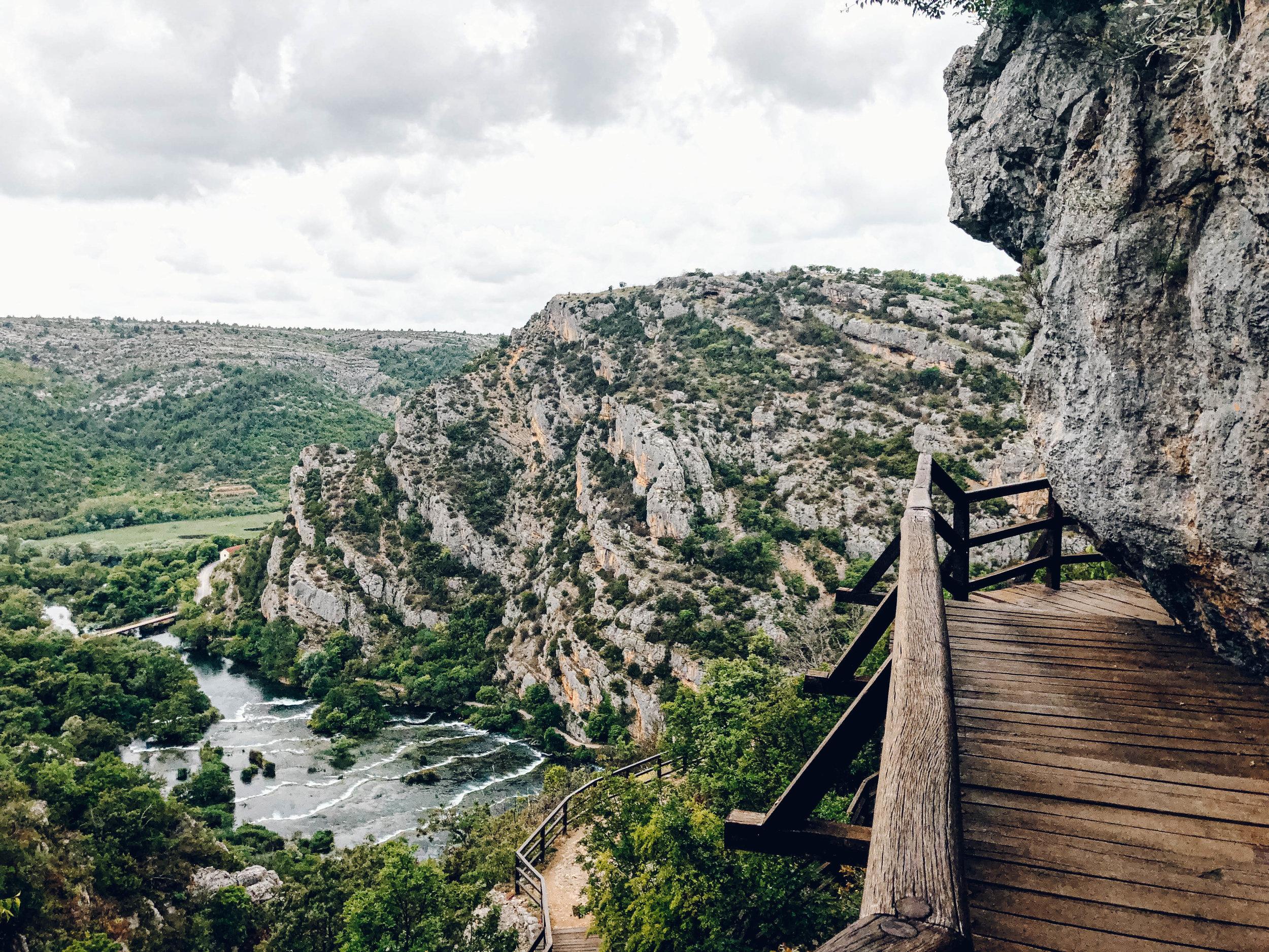 Roski Slap in Krka National Park Croatia