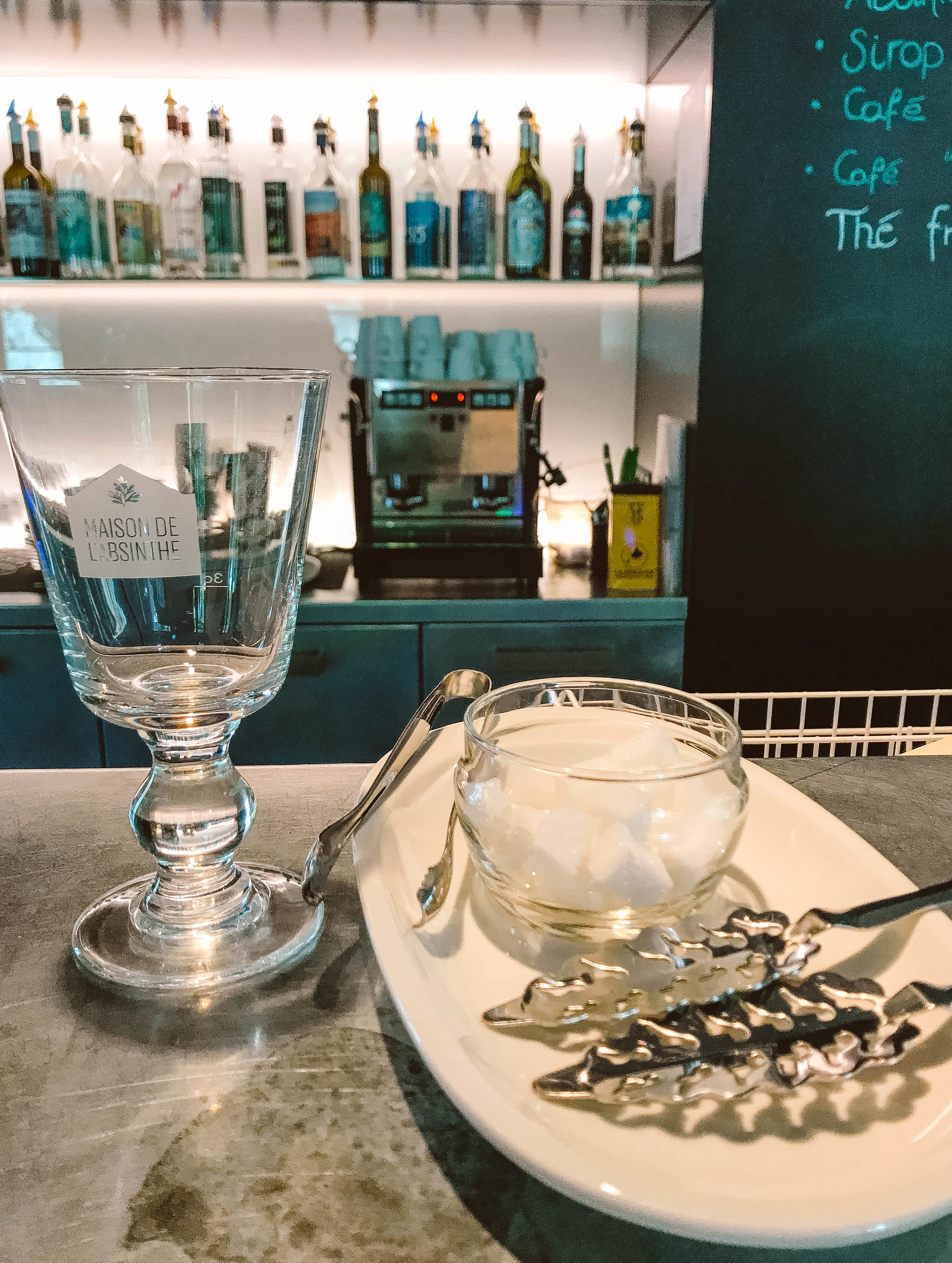 Absinthe tasting at Maison de l'Absinthe