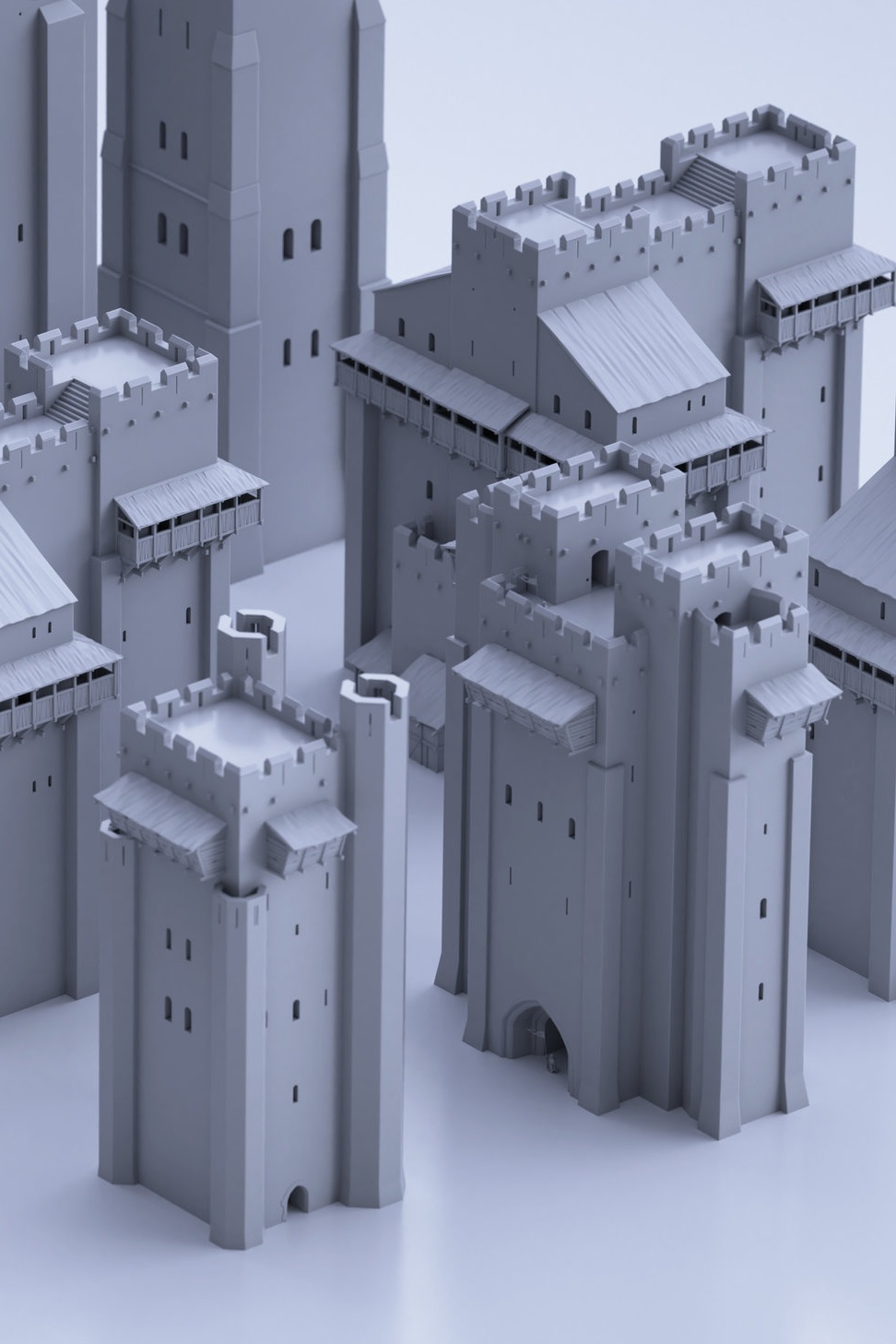 BUILDINGS - Includes fully modular sets of medieval castles and towers