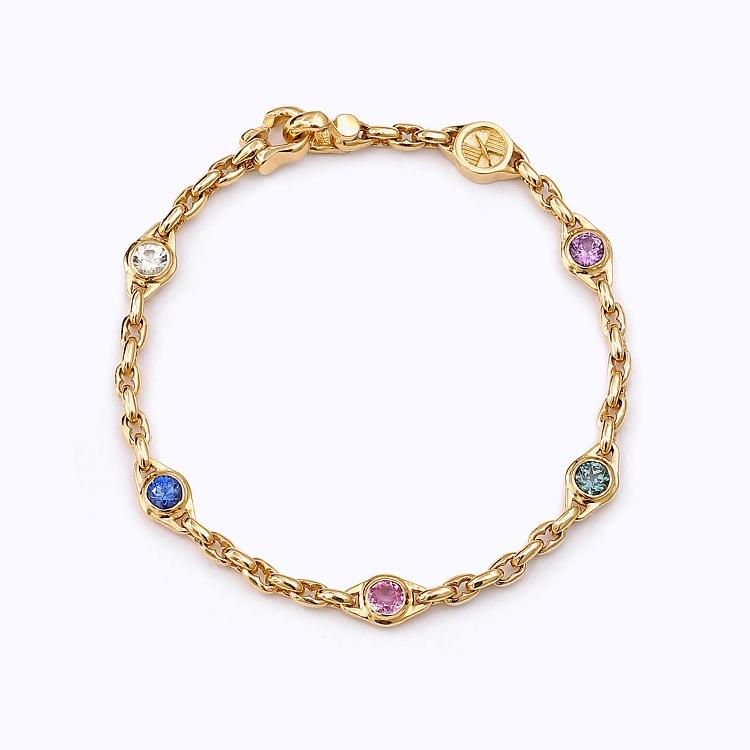 Michael&Markus-Baltic-Collection-Rainbow-Baltic-Link-Bracelet