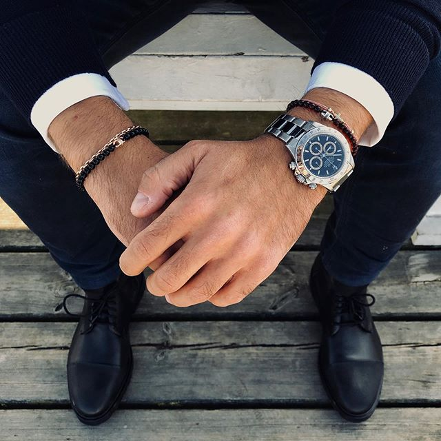 Contemplating the next move. #michael&markus #rolex #bracelet #stacking #mensjewelry #unisex #chain #amber #baltic #maritime #swag #fashion #autumn #fall #lifestyle