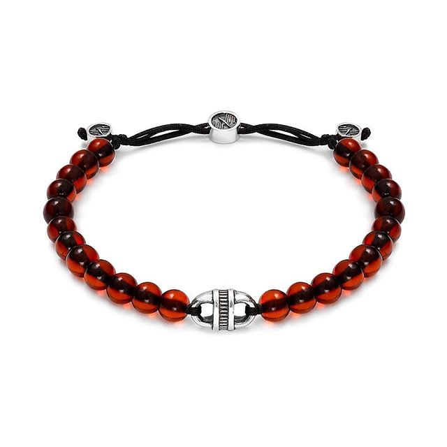 A Fancy Baltic-Link (7mm) adorned with a steel cable texture, accentuates the natural power of cherry amber beads (ca. 4.5mm). The final jewelry elements, made out of Sterling Silver, are oxidized and polished to enhance the details as well as to achieve a vintage look and feel. Our unique sliding band provides for maximum comfort, while its ornate elements provide for an elegant finishing touch.  Price:200€ 💶💶💶 #michaelmarkus #bracelet #amber #unisex #baltic #wristgame #lifestyle #mensjewelry #swag #fashion #jewelry #vintage #oxidized #nature #silver