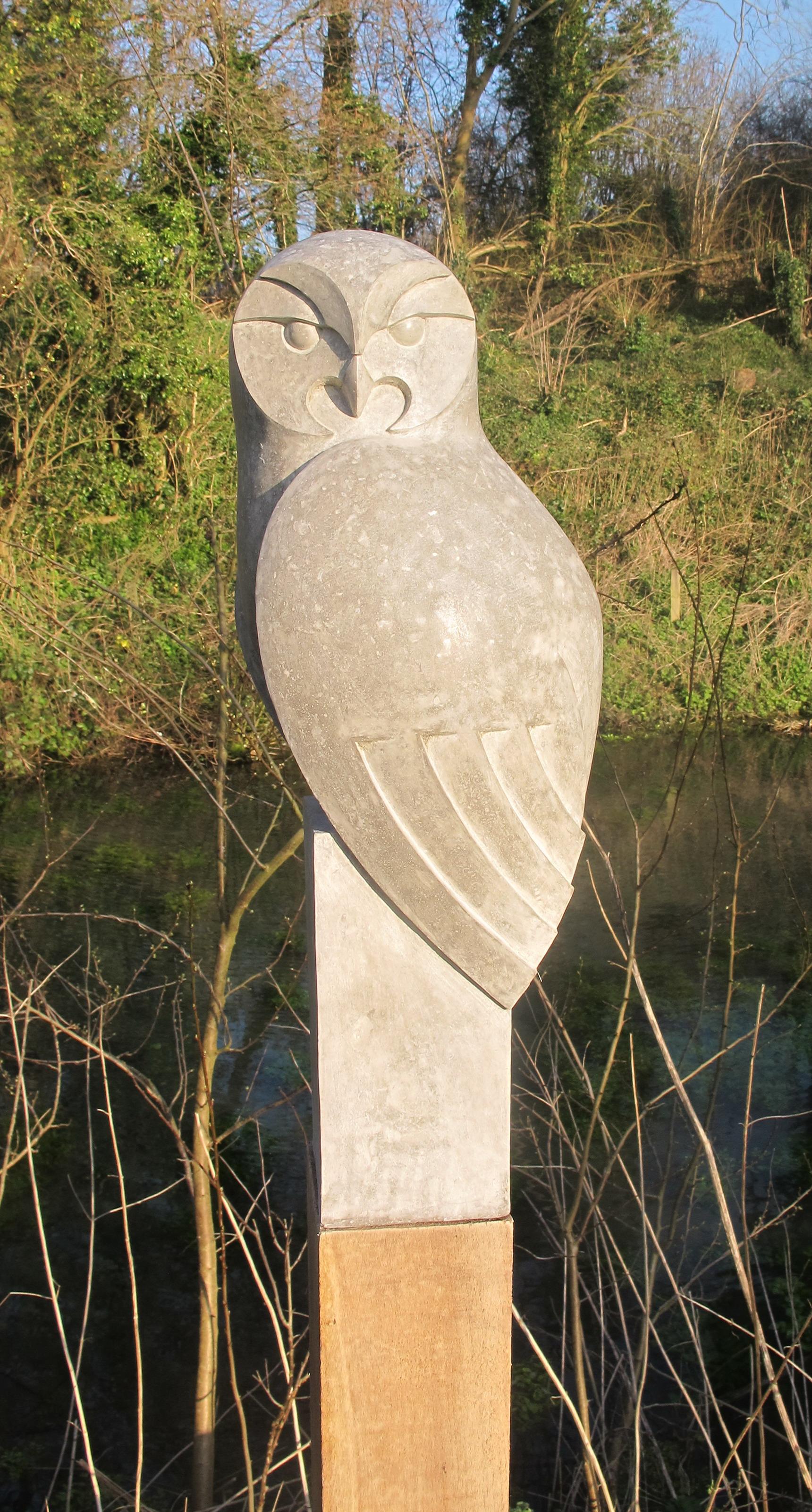 Tawny owl side. £580 w/o post. H 50cm