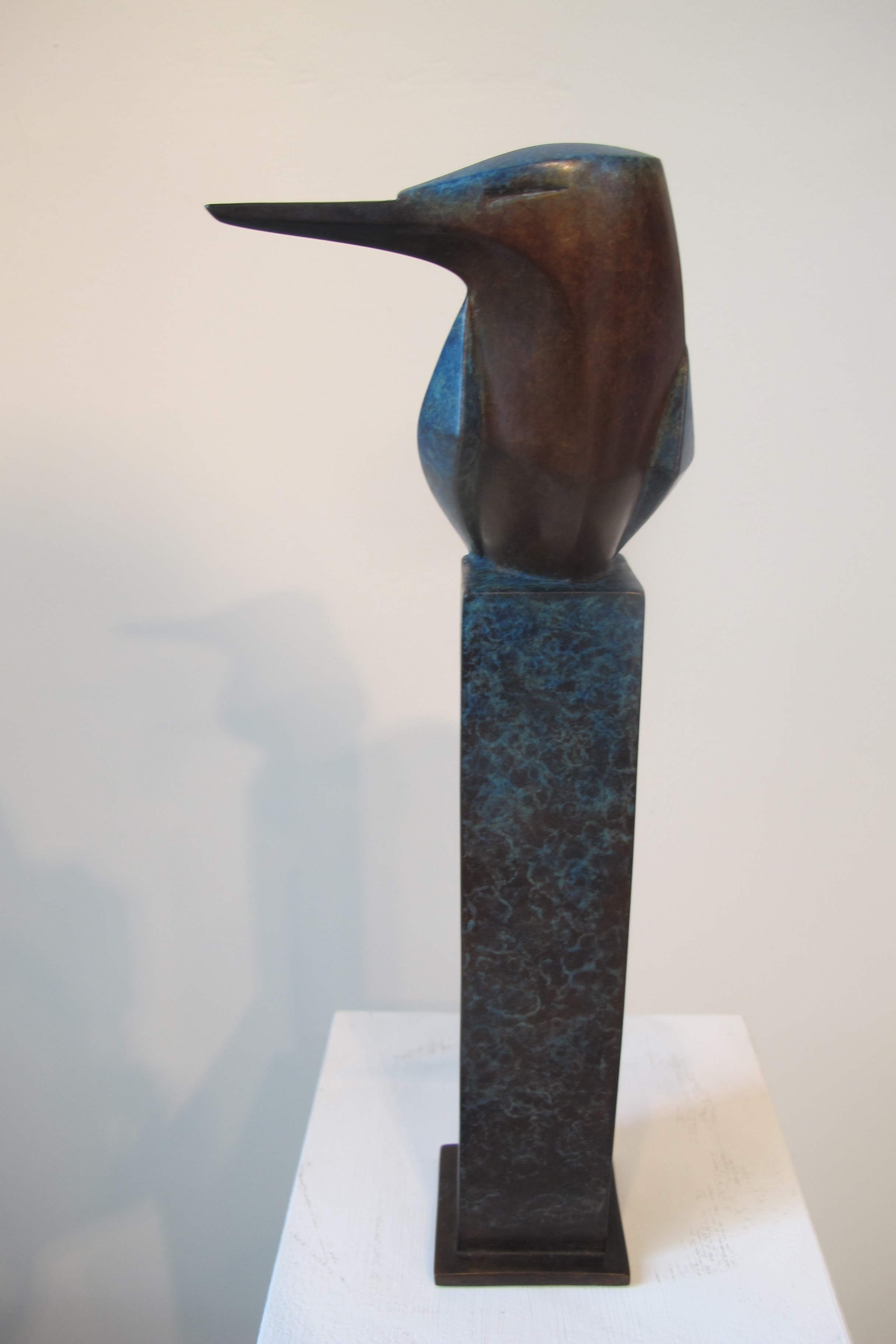 Kingfisher bronze two tone £1250 H. 29cm