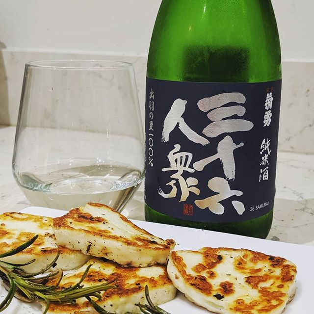 Junmai & Cheese. Yes please!  Kikuisamu Dewa no Sato