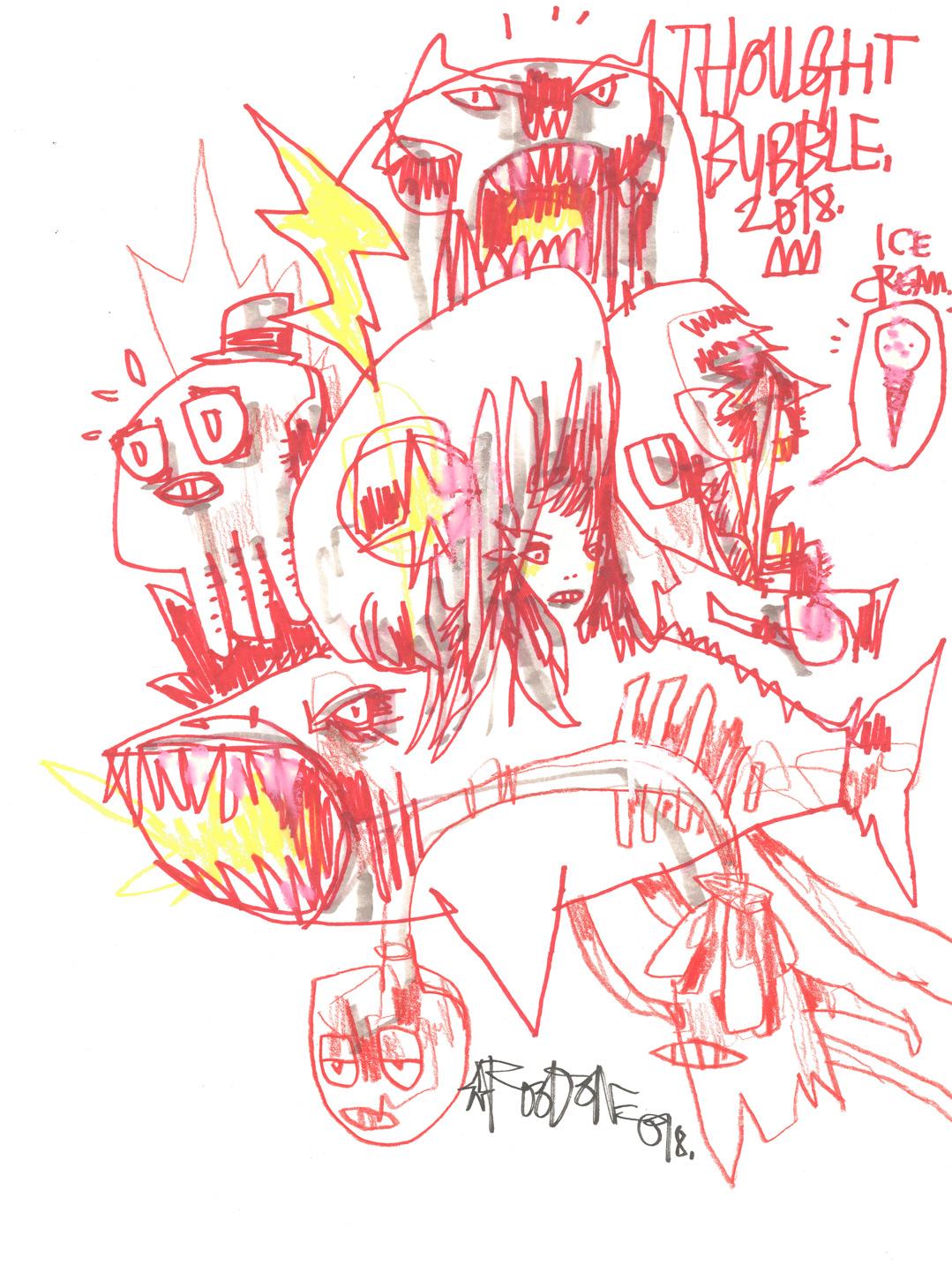 Artwork by Jim Mahfood (A3) -  See eBay Listing Here