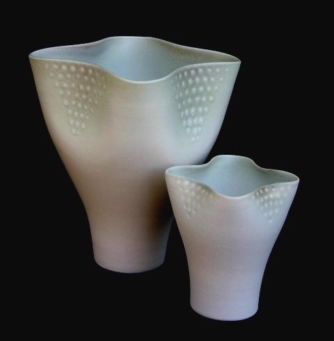 Jenny Morten - Matte White Wavy Vase
