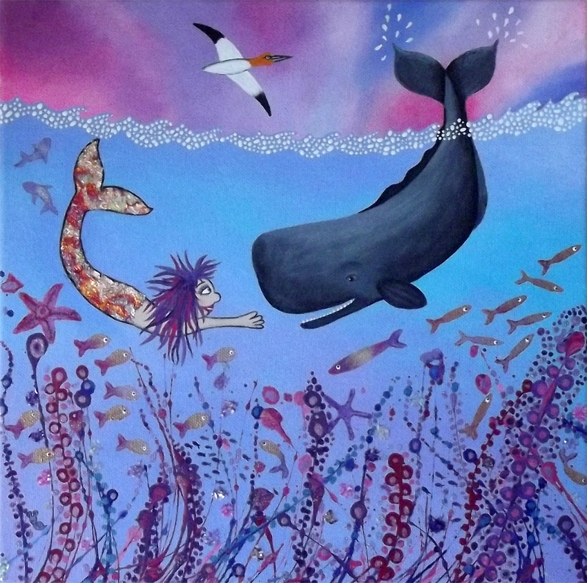 Caroline Appleyard - Whales and Gannet