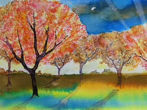Inspired by Nature - Mixed media paintings and prints by Pleasley Art Explorers.