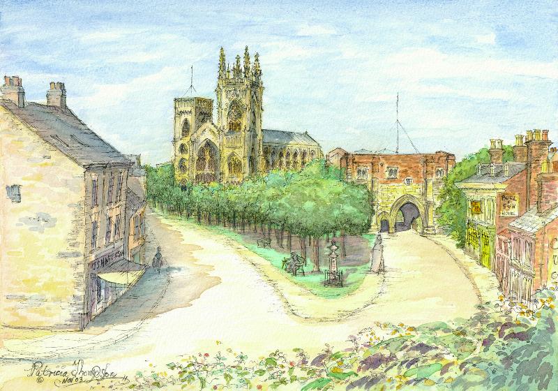 Patricia Thompson - Bridlington Priory Church and Baylegate