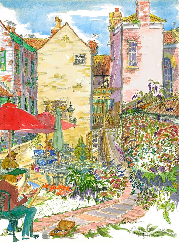 Patricia Thompson - In The Garden, Georgian Tea Rooms