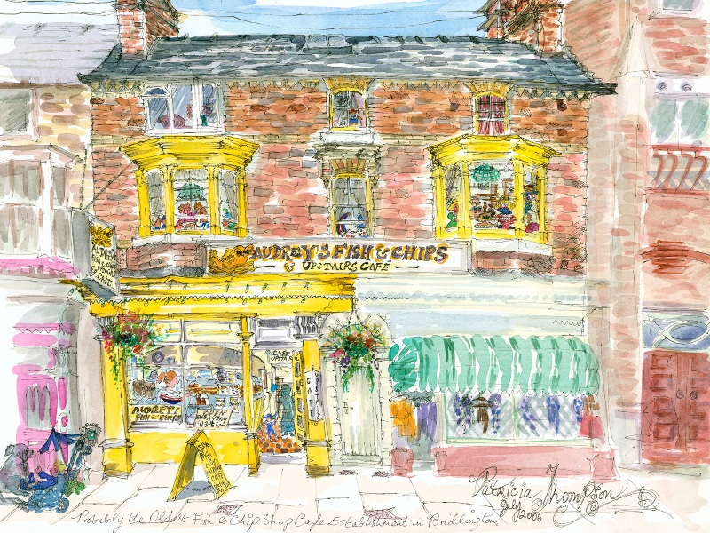 Patricia Thompson - New work by artist Patricia Thompson, including prints by Patricia of Bridlington and the Old Town.
