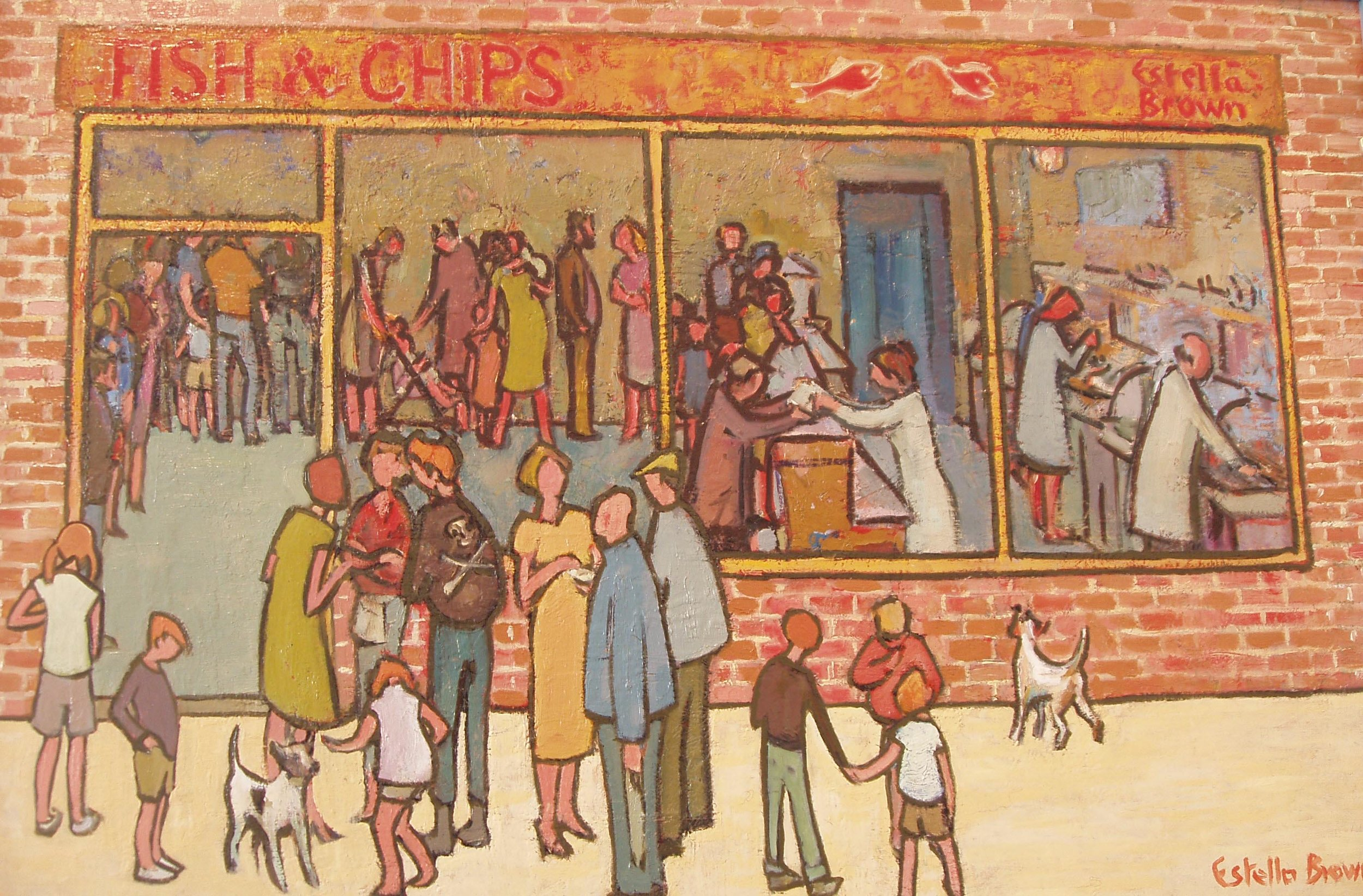 Estella Brown - Fish and Chip Shop I