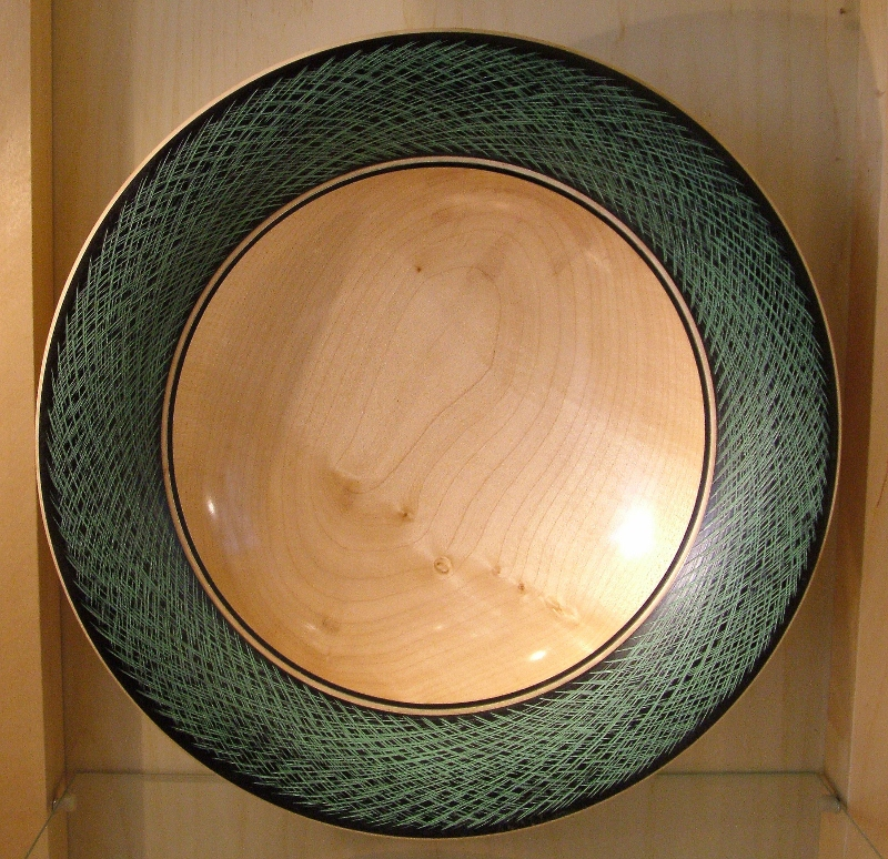 Sue Harker - Green & Black Bowl