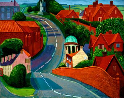 David Hockney - Road to York through Sledmere