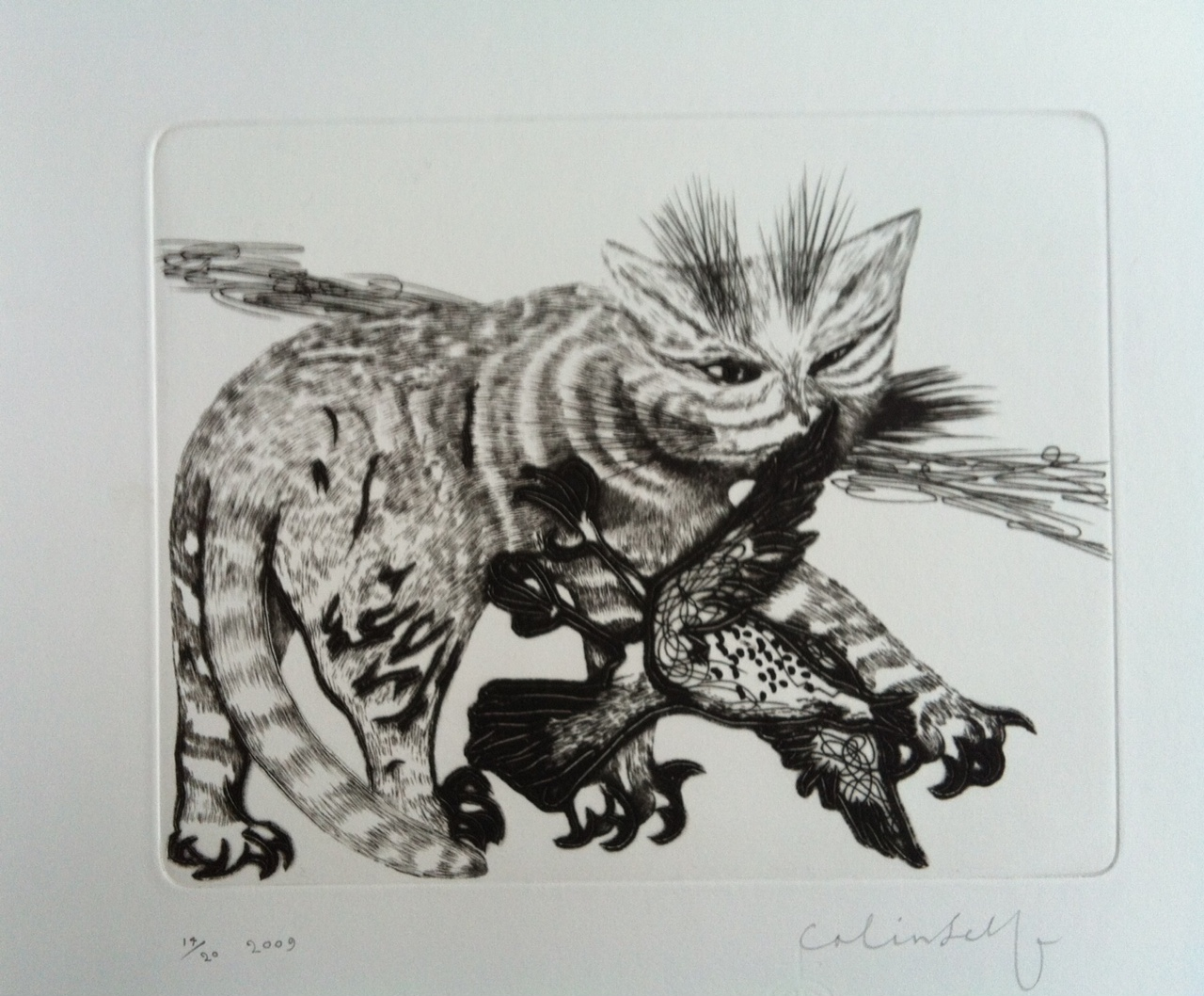 Colin Self - Cat with Red Claws