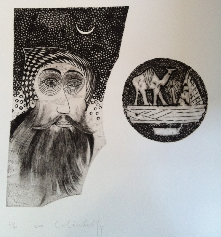 Colin Self - Coptic Monk (With Pyramid and Camel)