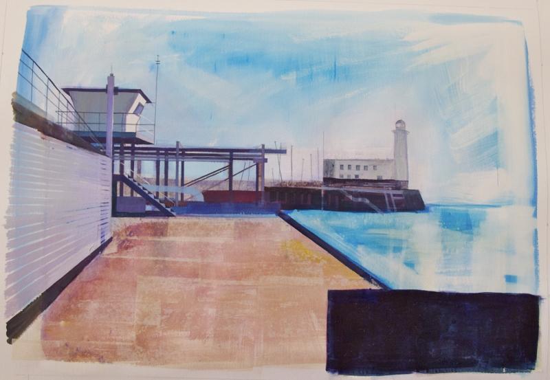 Lynne Wixon - Scarborough Harbour II