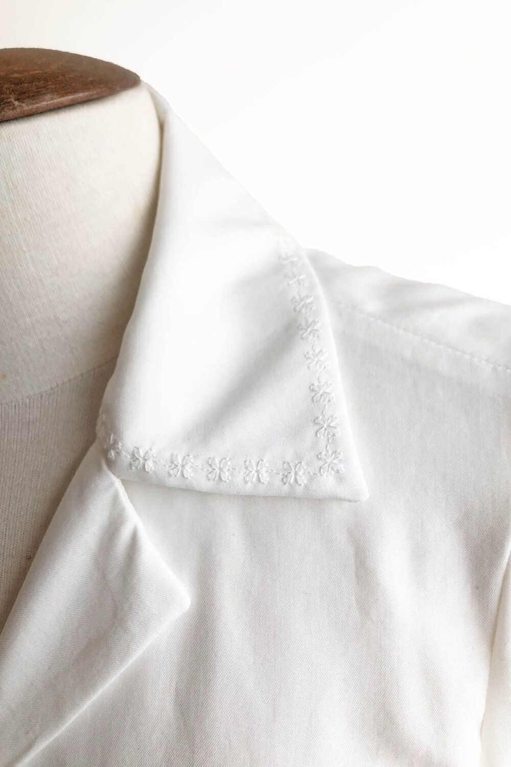 The Lillias blouse embroidery detail