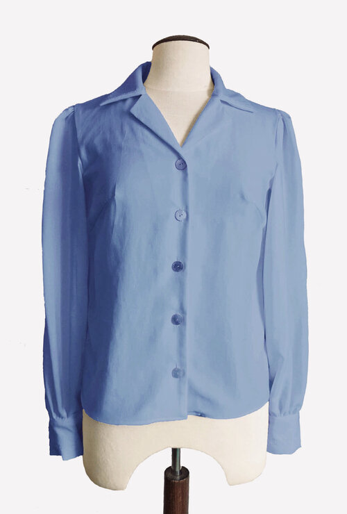 The Lillias blouse in Sky Blue